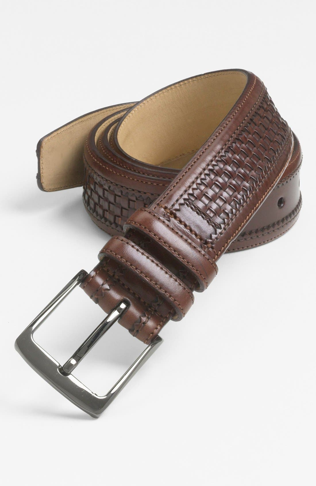 Main Image - Mezlan 'Parma Dama' Woven Leather Belt