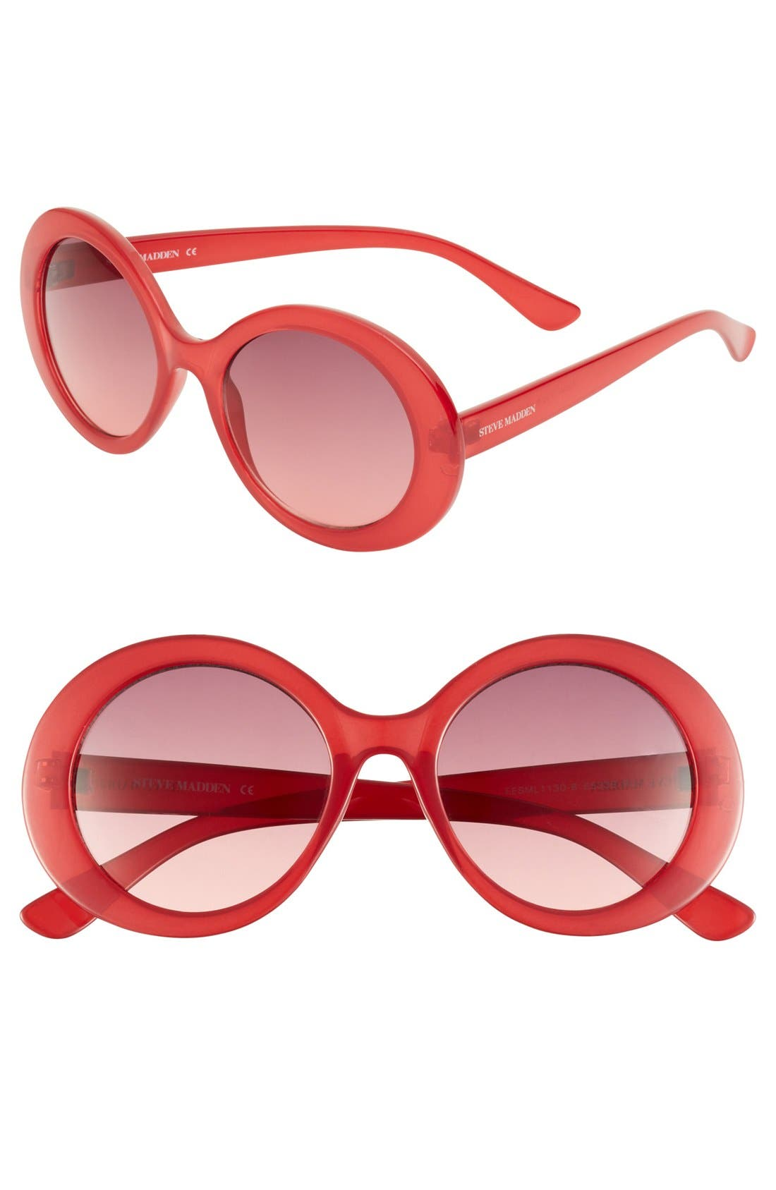 Alternate Image 1 Selected - Steve Madden Round Sunglasses