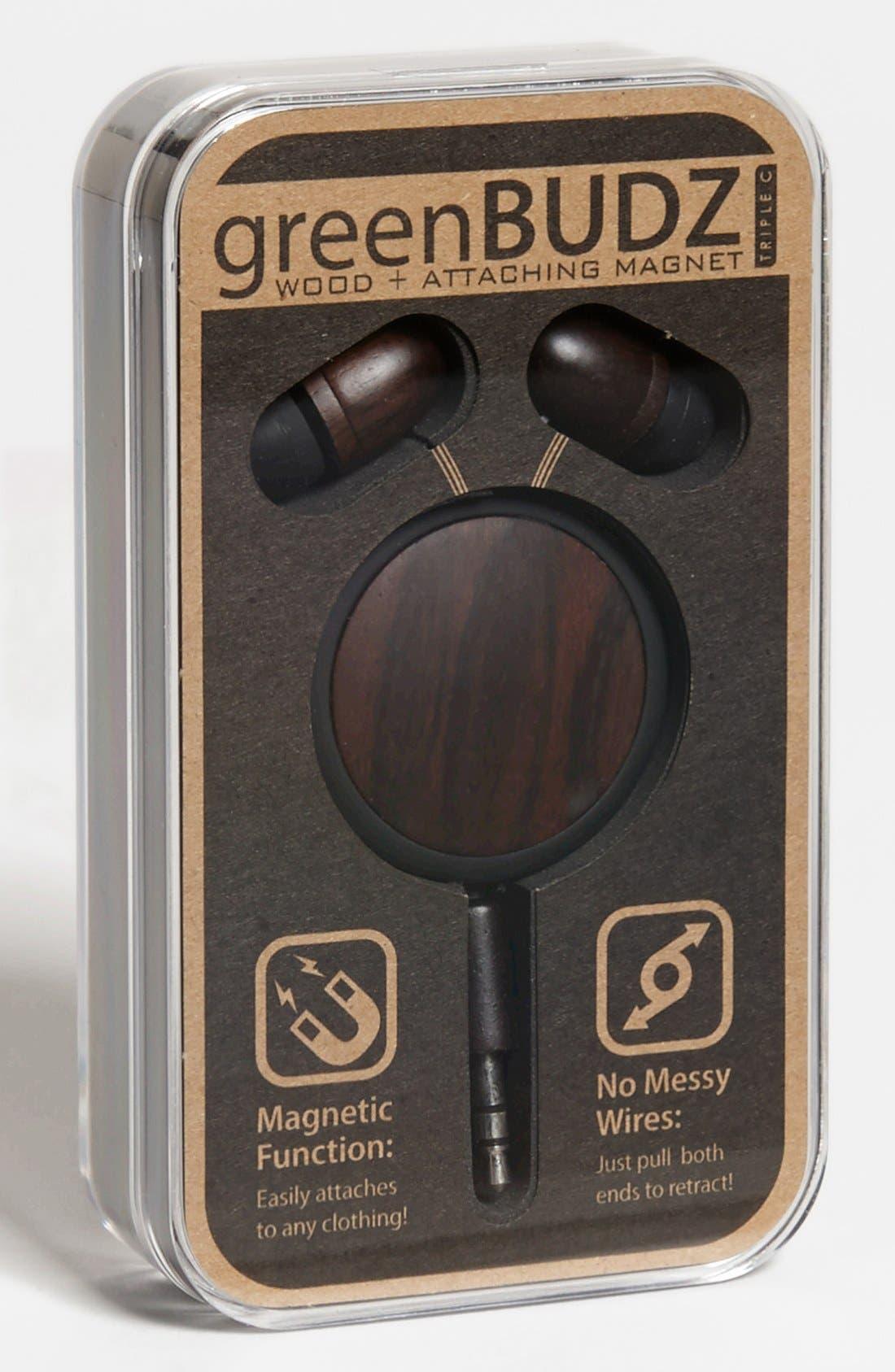 Alternate Image 1 Selected - Triple C 'GreenBUDZ' Wooden Earbuds & Magnet