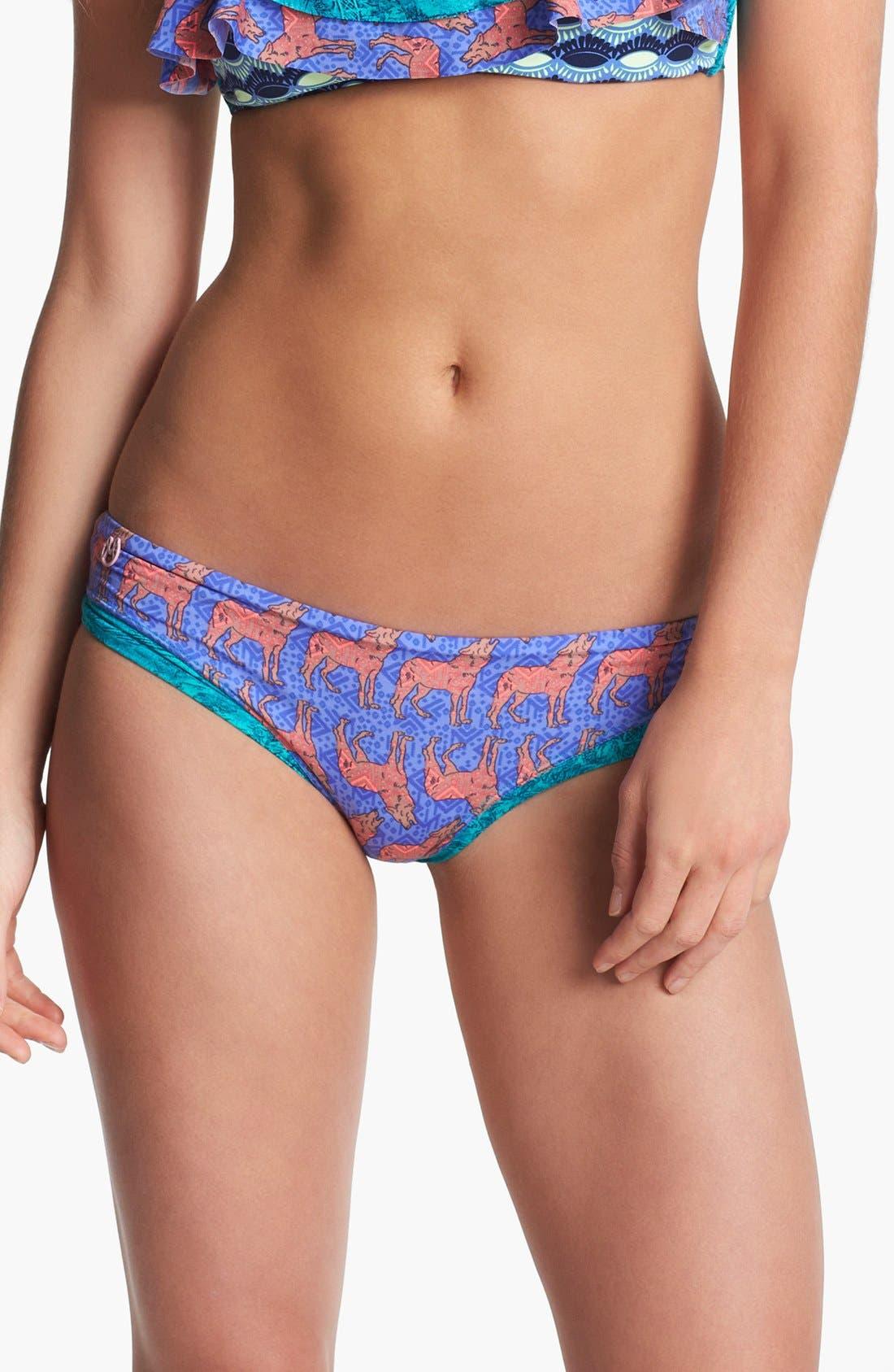 Main Image - Maaji 'Summer Night Wolf' Reversible Bikini Bottoms