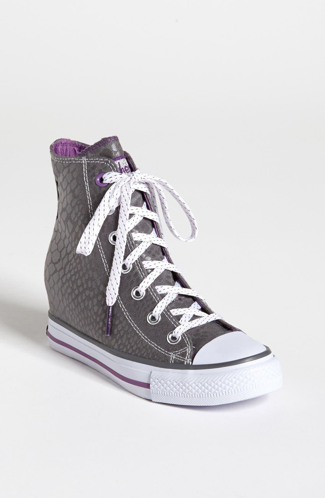 Alternate Image 1 Selected - SKECHERS 'Gimme Wedge' Sneaker (Toddler, Little Kid & Big Kid)