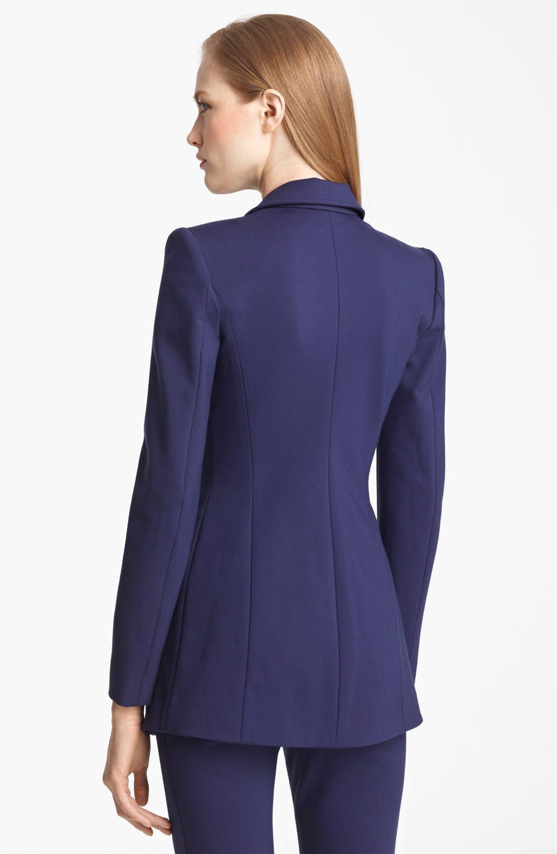 Alternate Image 3  - Armani Collezioni Long Milano Jersey Jacket