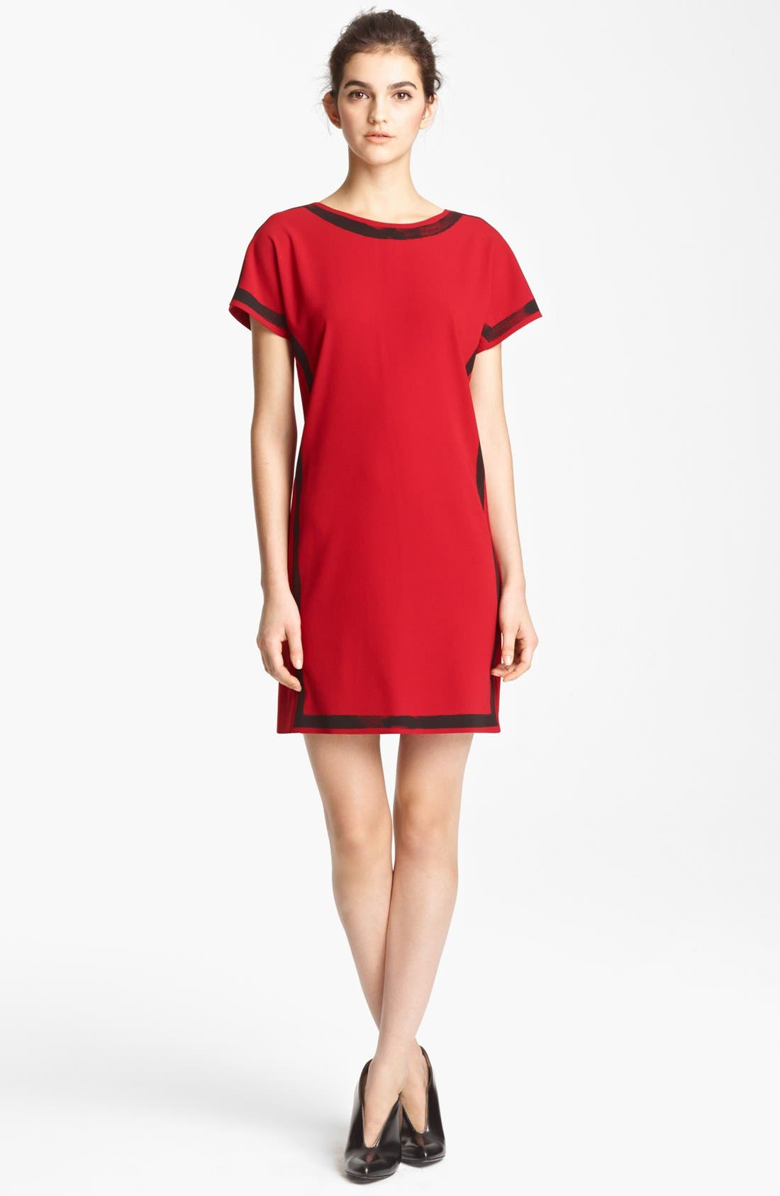 Alternate Image 1 Selected - Moschino Cheap & Chic Brushstroke Print Crepe Dress