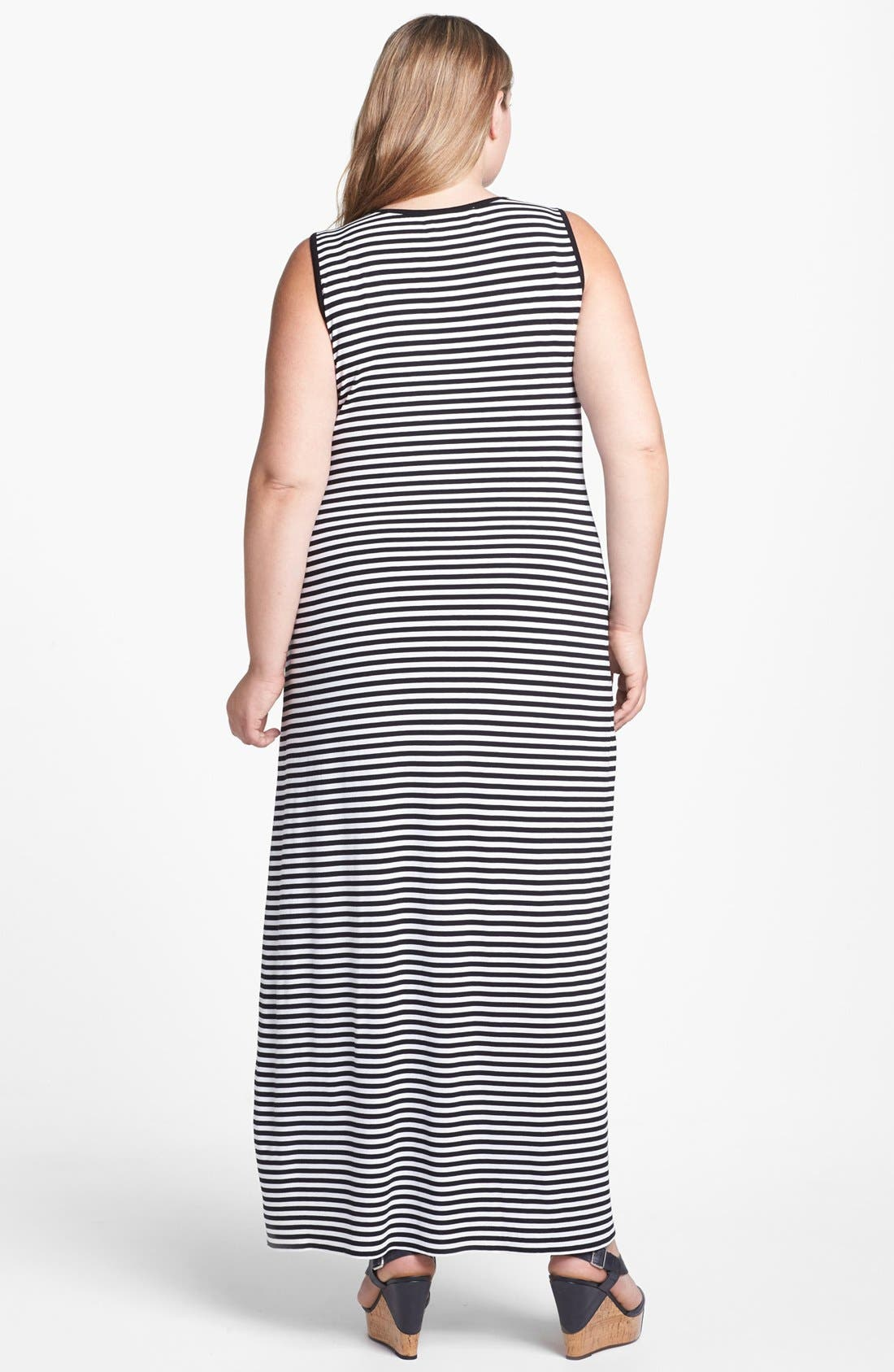 Alternate Image 2  - Two by Vince Camuto Stripe Tank Maxi Dress (Plus Size)