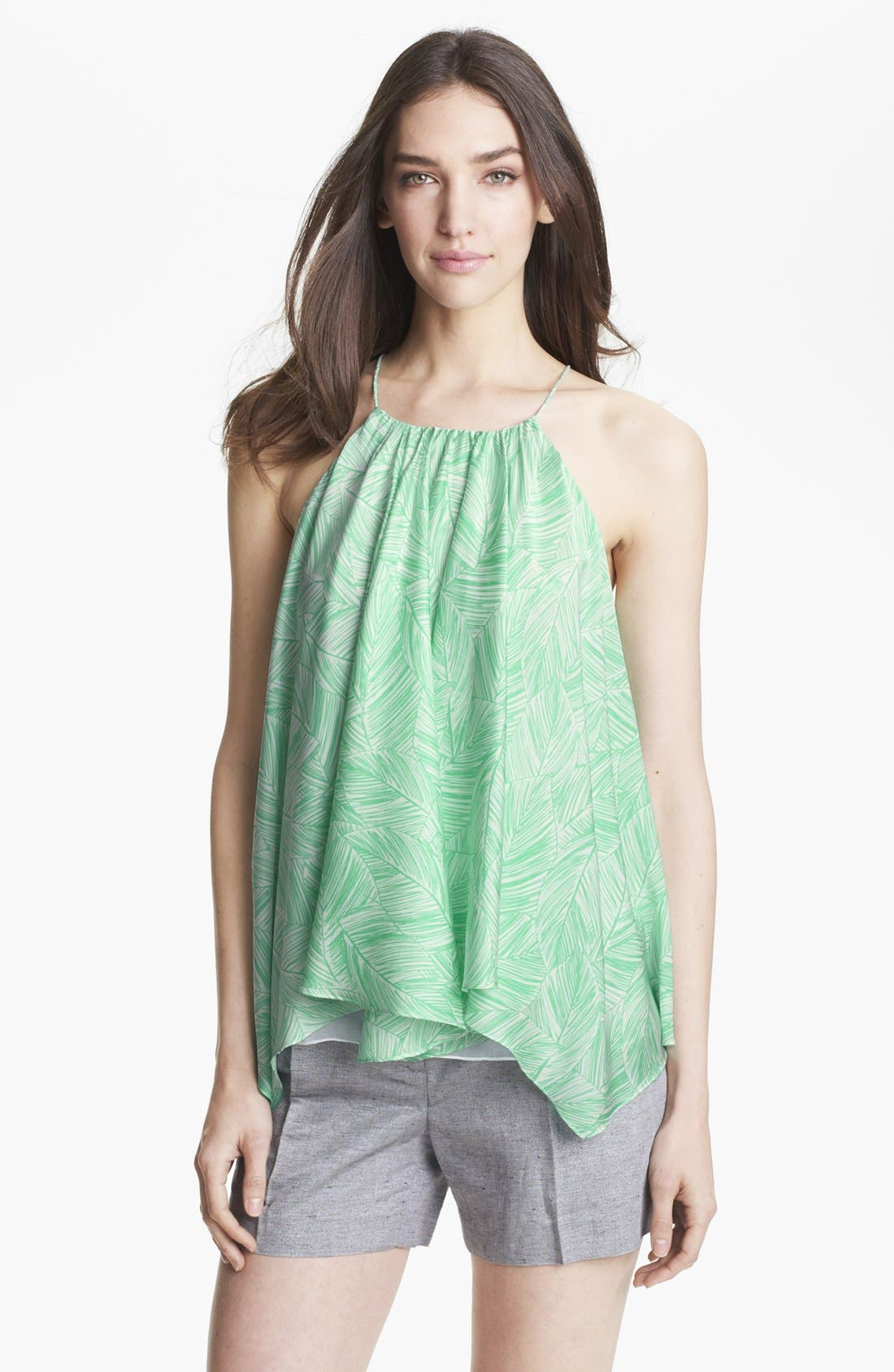 Alternate Image 1 Selected - Milly Trapeze Stretch Silk Tank