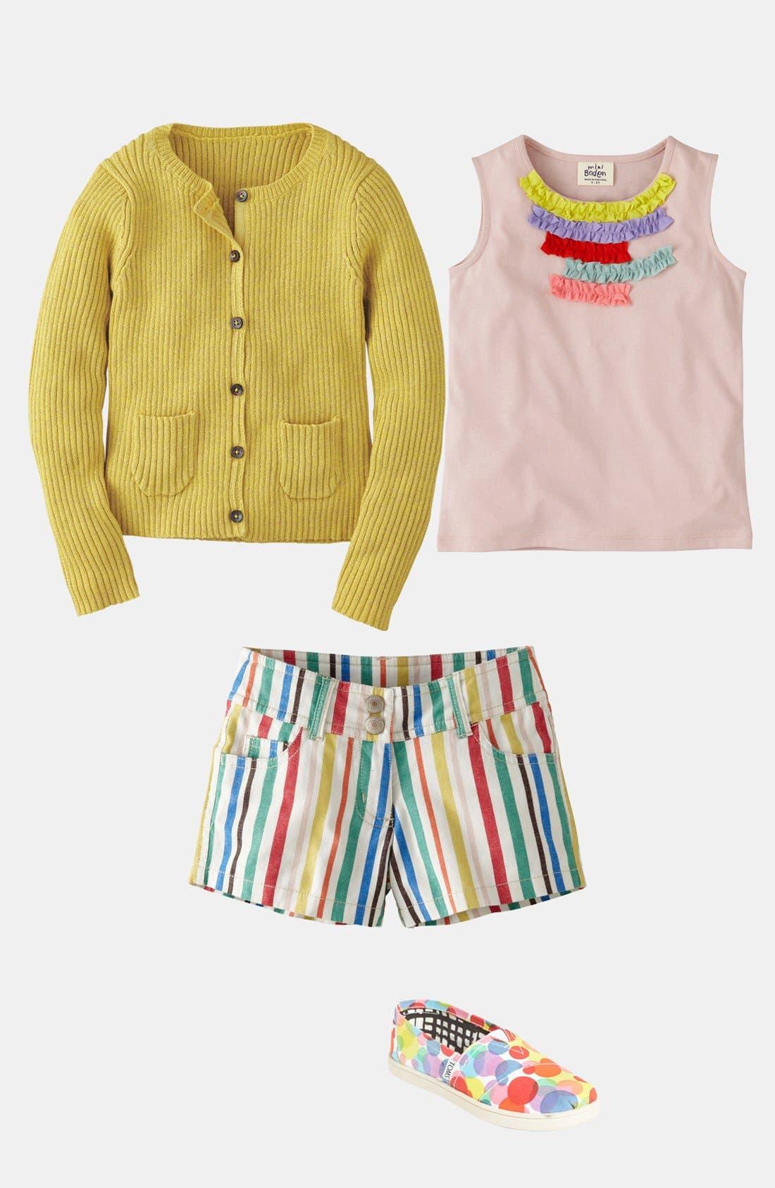 Alternate Image 3  - Mini Boden 'Heart Pocket' Denim Shorts (Little Girls & Big Girls)