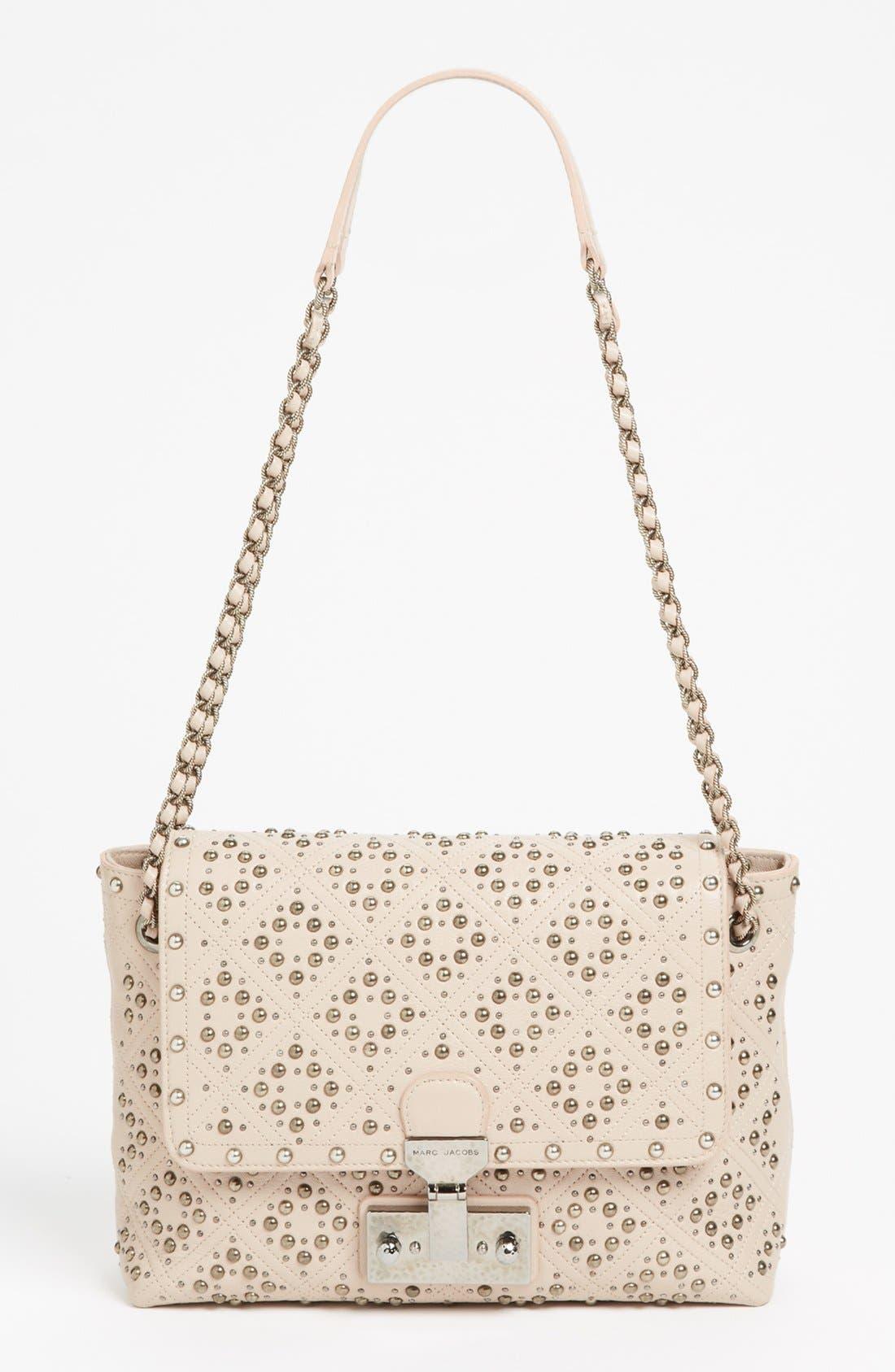 Main Image - MARC JACOBS 'Baroque Studs Single - Large' Leather Crossbody Bag