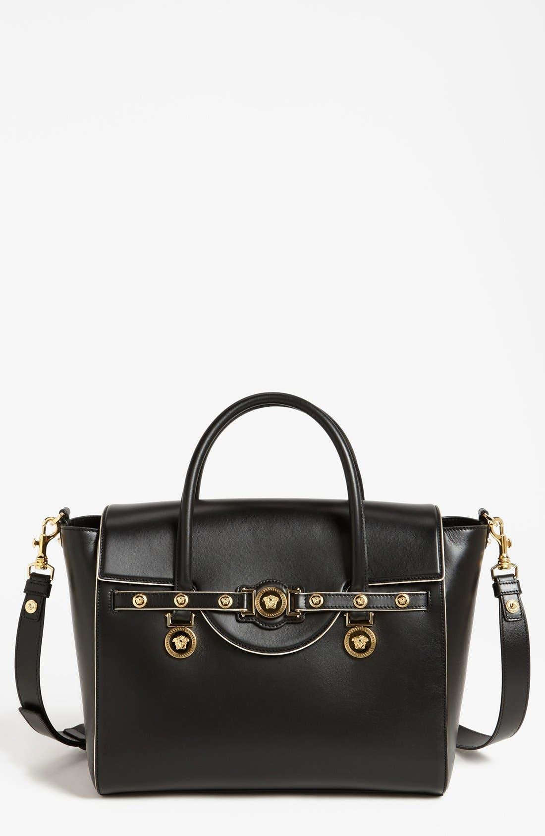 Main Image - Versace Top Handle Leather Satchel