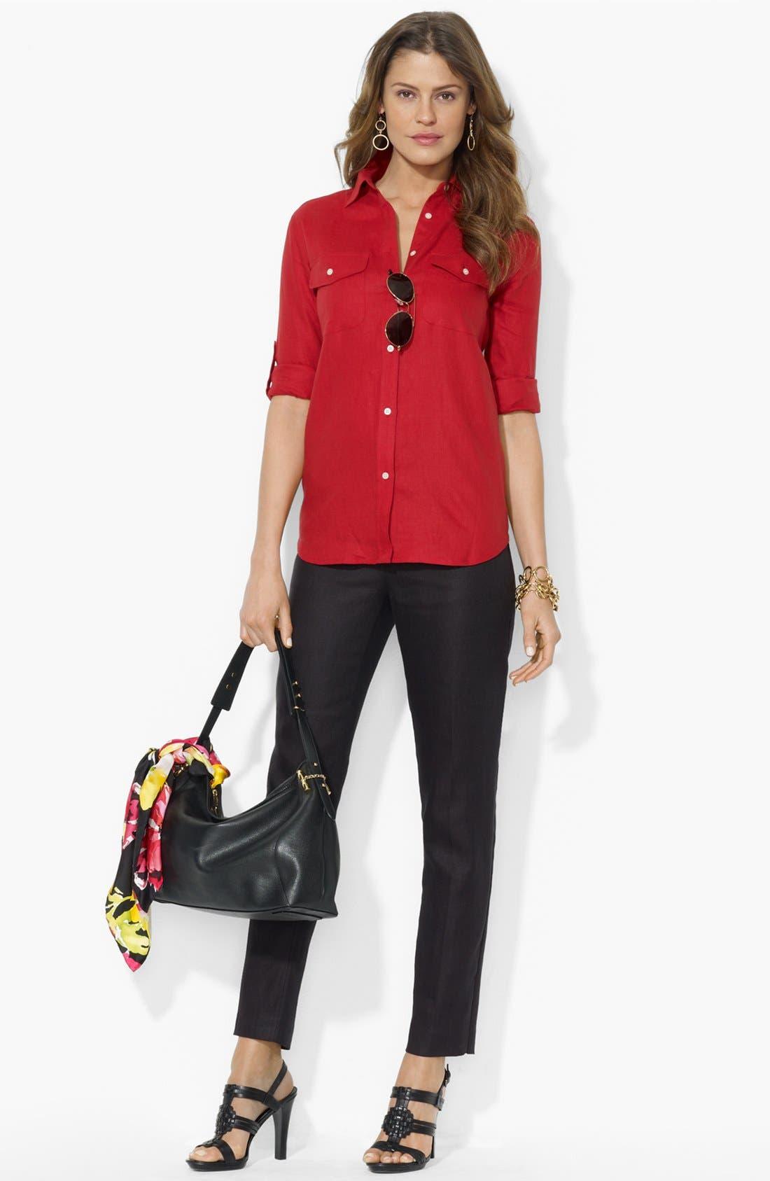 Alternate Image 2  - Lauren Ralph Lauren Linen Work Shirt