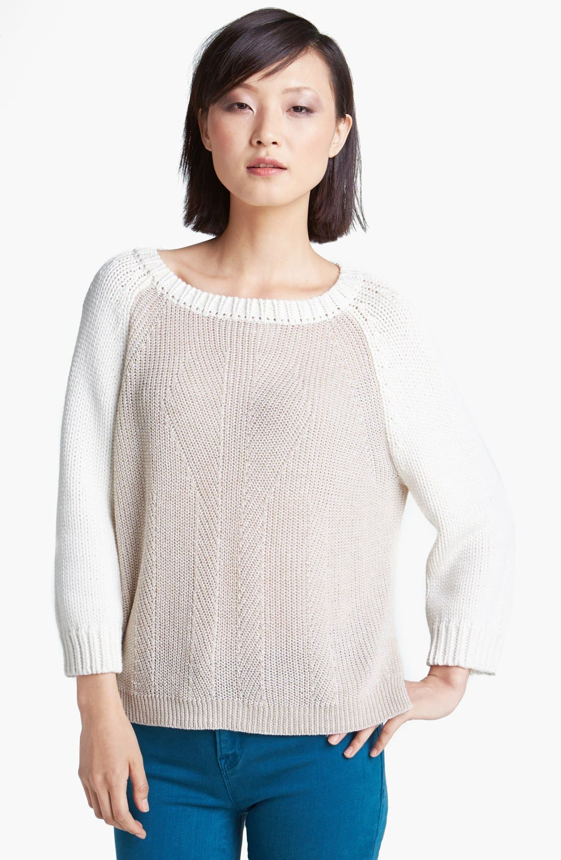 Main Image - MARC BY MARC JACOBS 'Edgemont' Linen Blend Sweater
