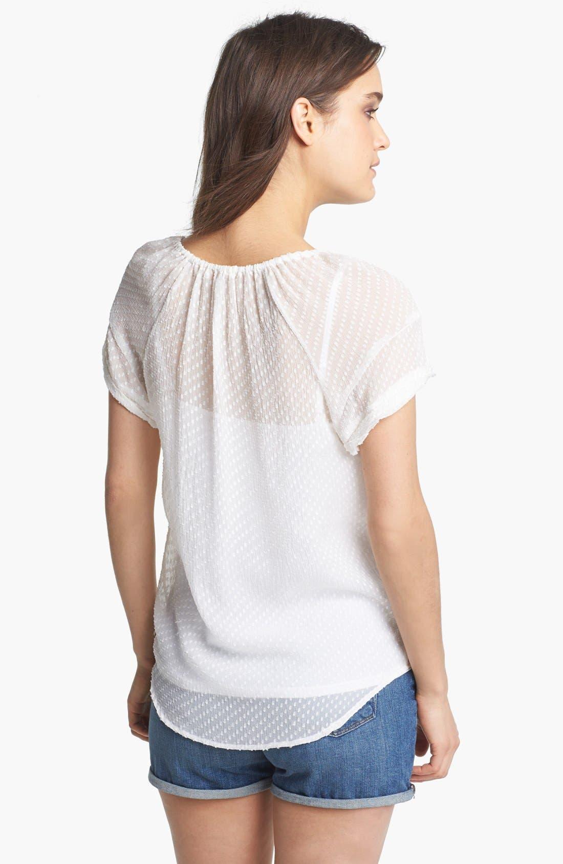 Alternate Image 2  - Ella Moss Textured Peasant Top