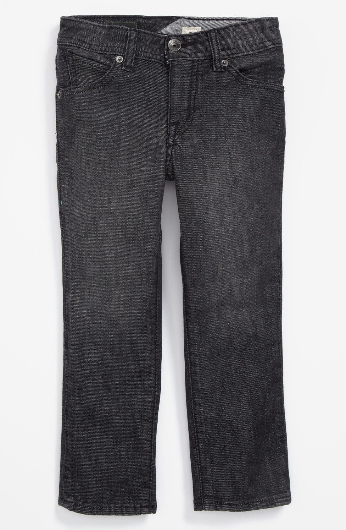 Alternate Image 2  - Volcom 'Vorta' Slim Straight Leg Jeans (Little Boys)