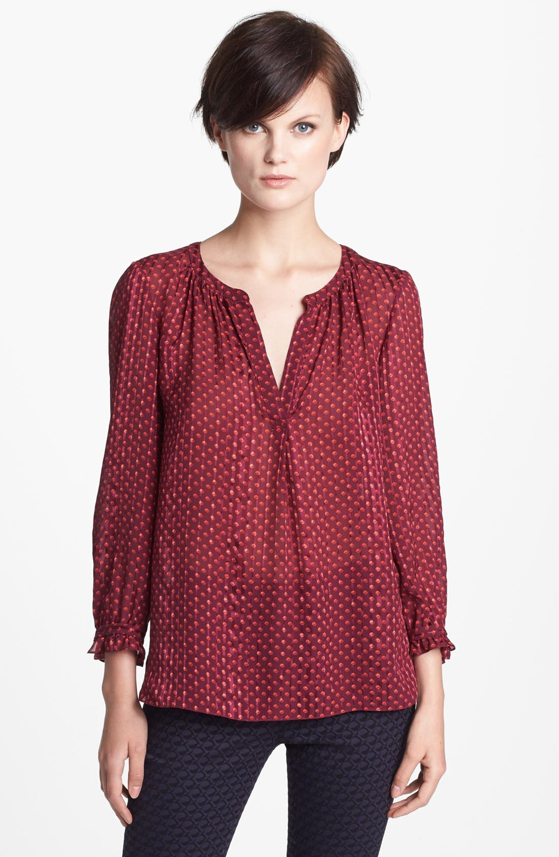 Main Image - MARC BY MARC JACOBS 'Minetta' Print Silk Top