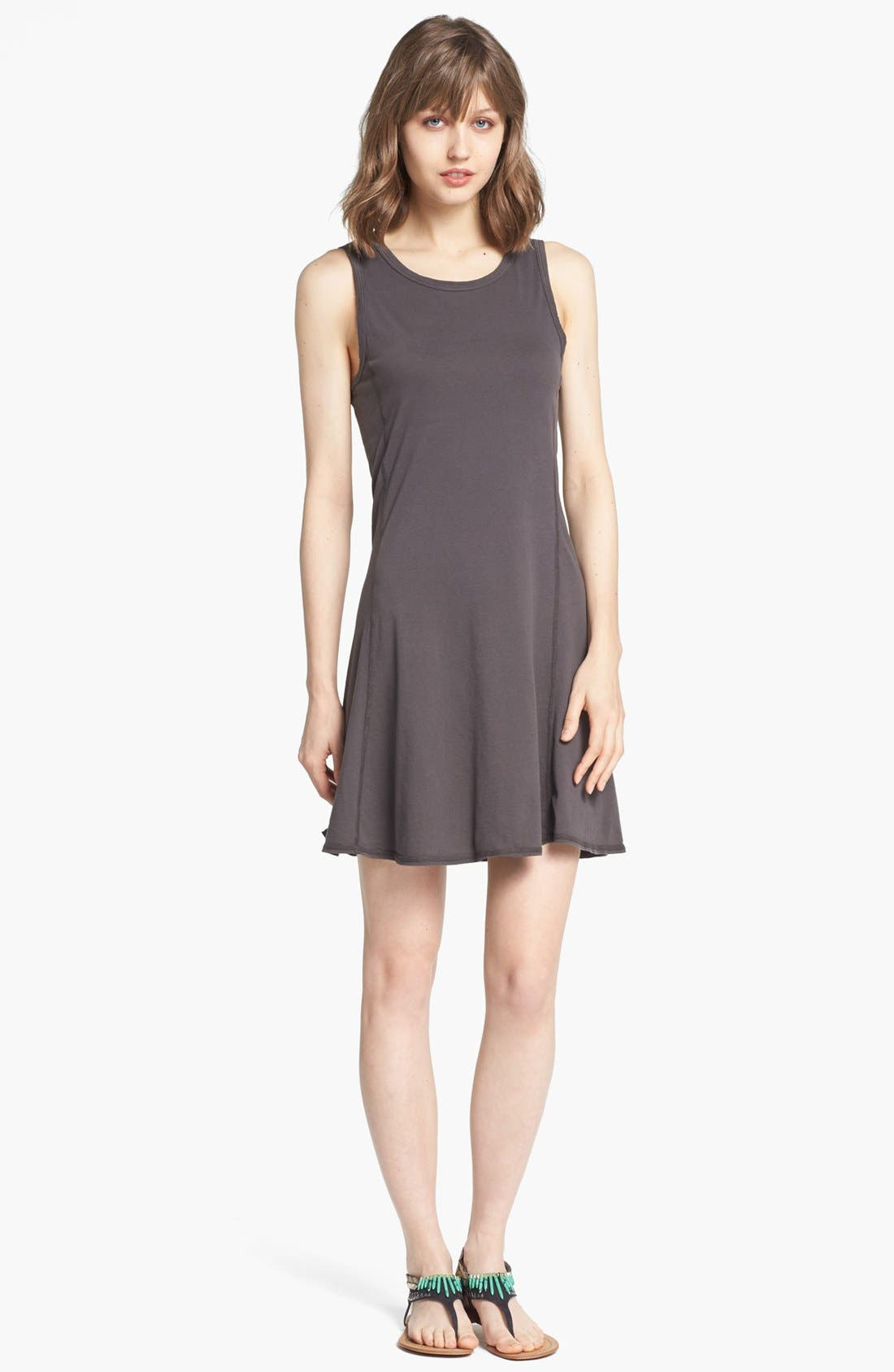 Alternate Image 1 Selected - James Perse Flared Sleeveless Dress