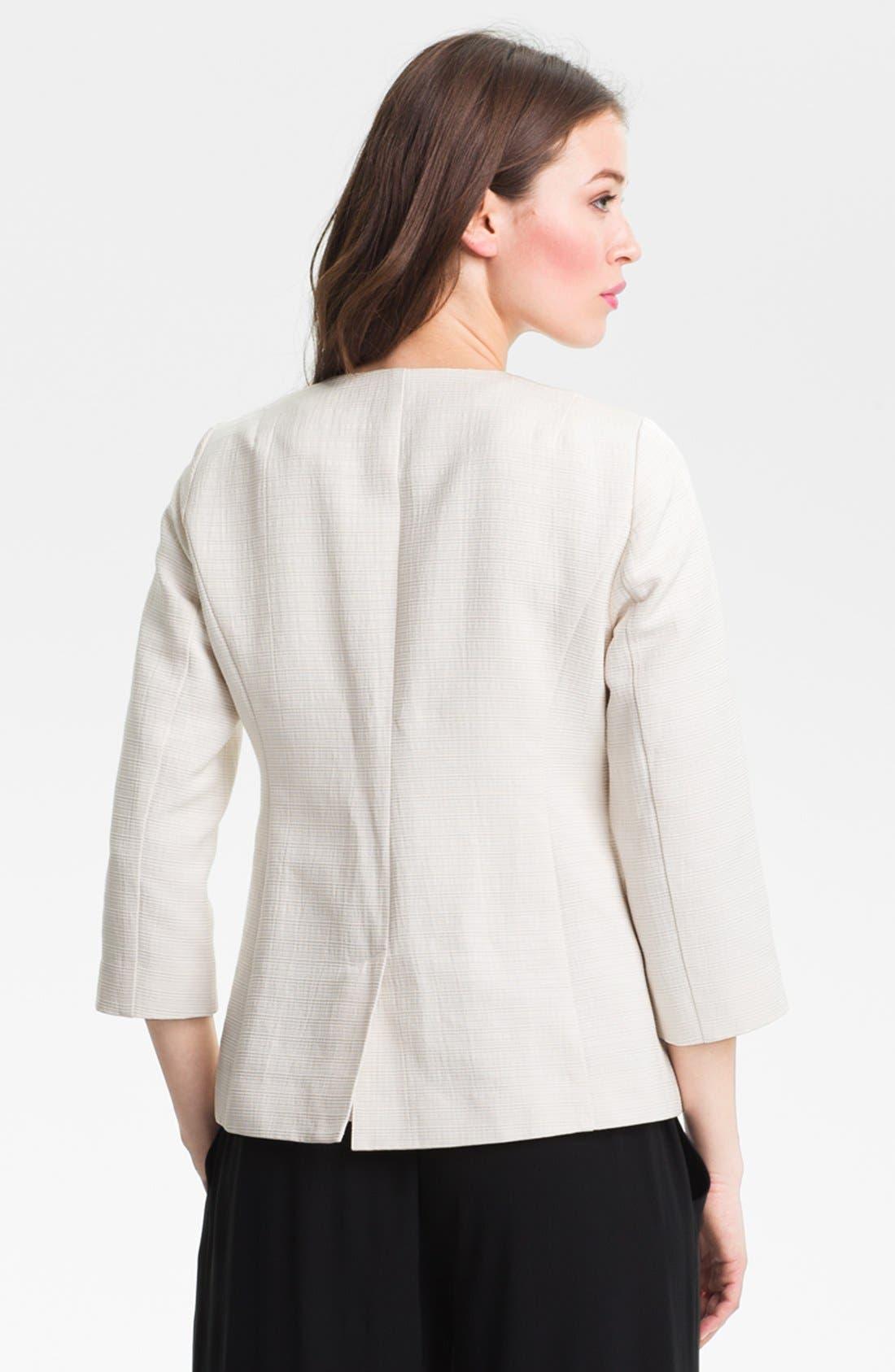 Alternate Image 2  - Eileen Fisher Three Quarter Sleeve Jacket (Petite)