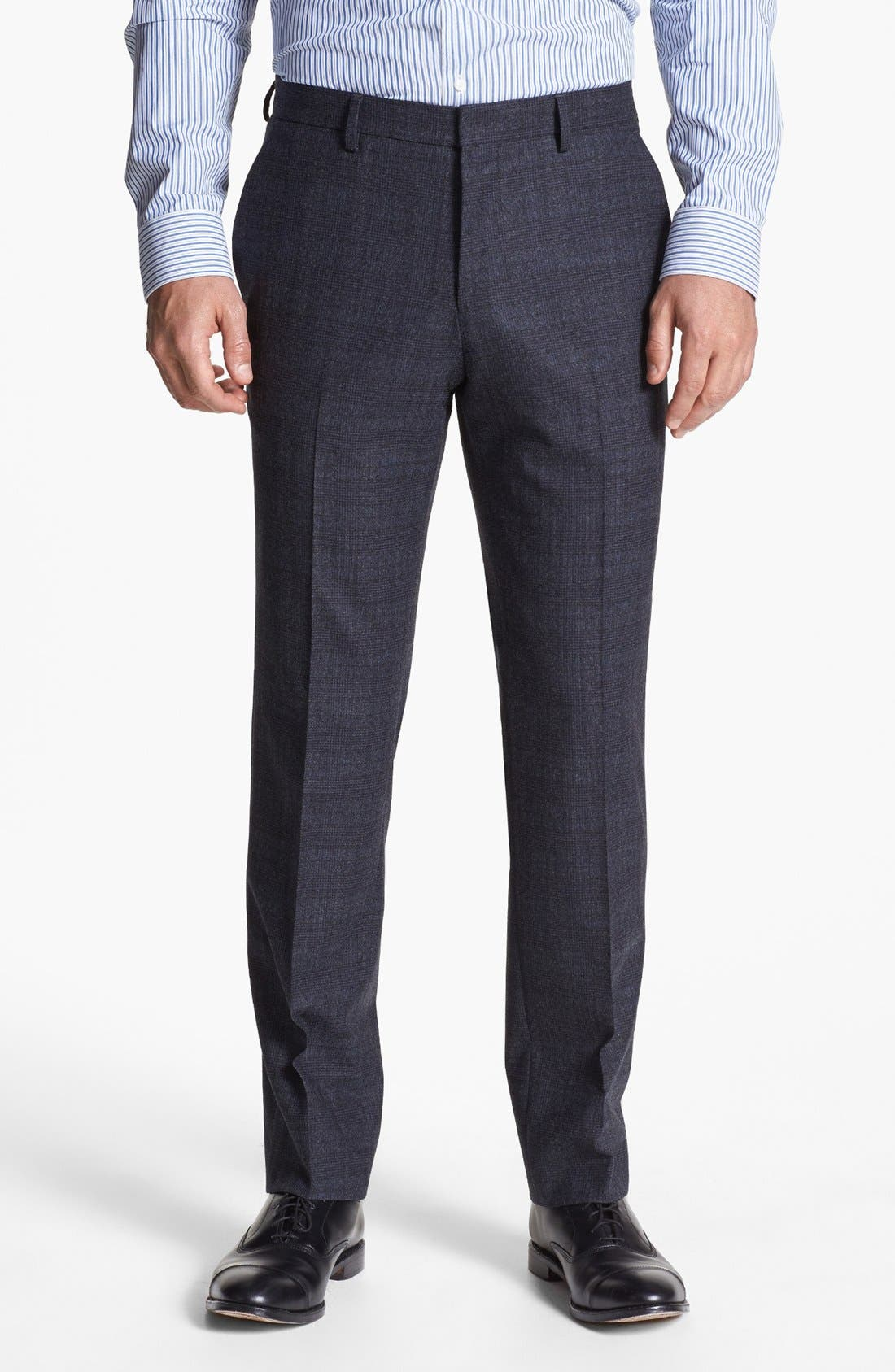 Alternate Image 5  - BOSS HUGO BOSS 'Hedge/Gense' Trim Fit Plaid Suit