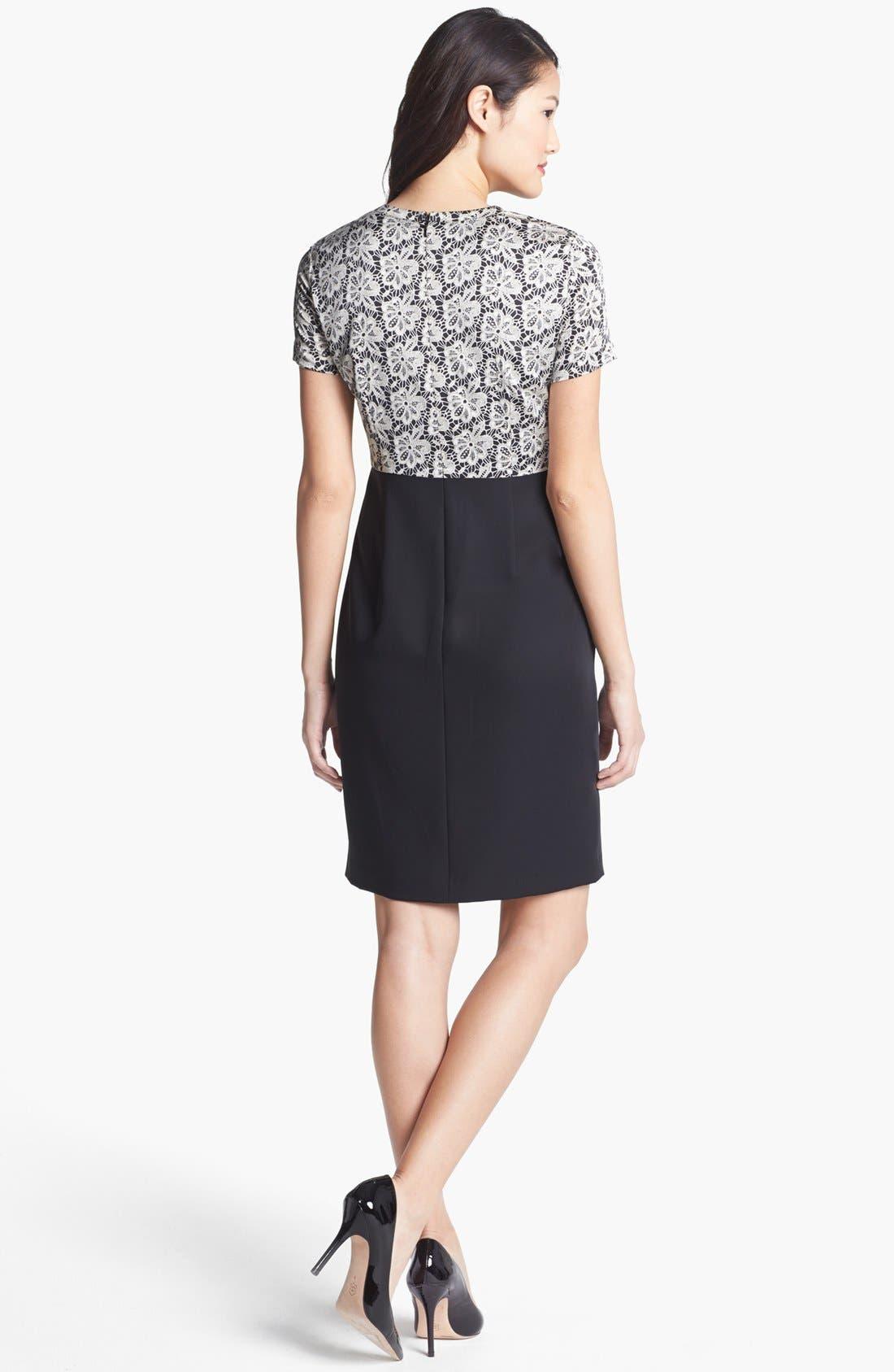 Alternate Image 2  - Vince Camuto Lace Print Crepe Dress