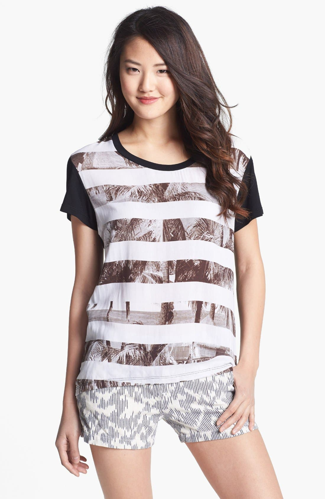 Alternate Image 1 Selected - Caslon® Mixed Media Graphic Tee