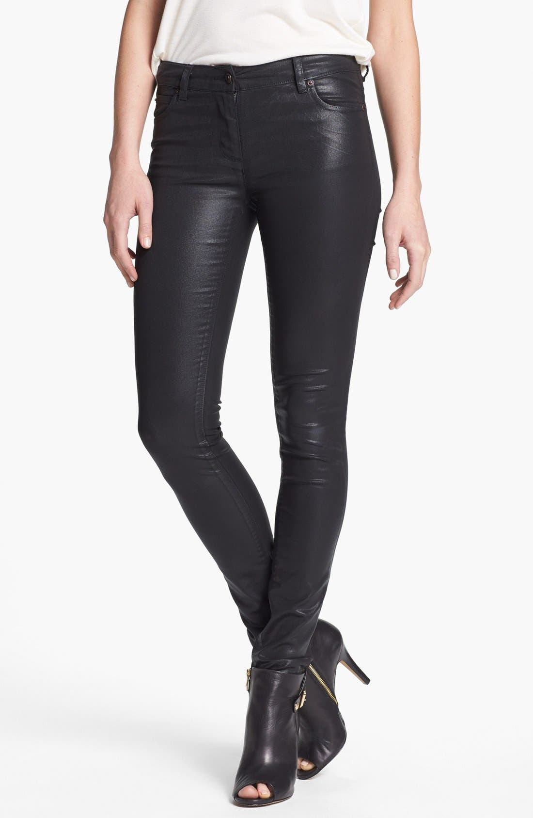 Main Image - Two by Vince Camuto Coated Skinny Jeans