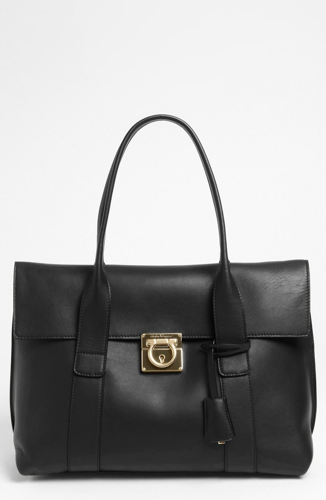 Alternate Image 1 Selected - Salvatore Ferragamo 'Sookie' Leather Shopper