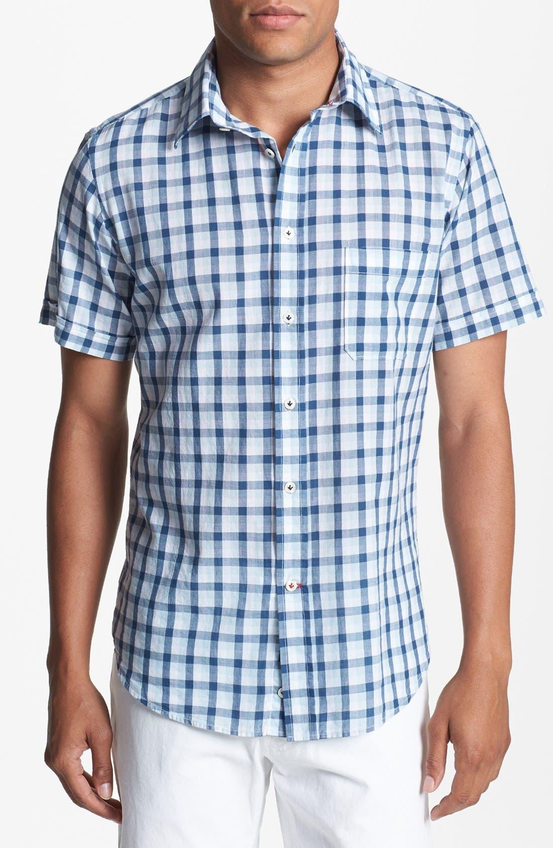 Alternate Image 1 Selected - Benson Check Short Sleeve Sport Shirt