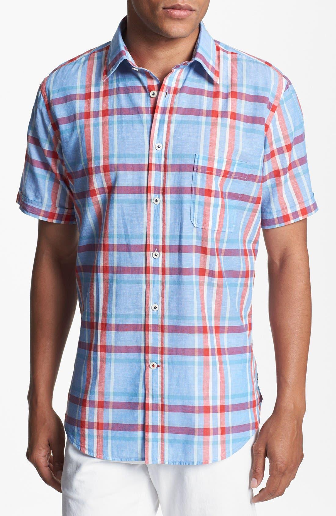 Alternate Image 1 Selected - Benson Plaid Short Sleeve Sport Shirt