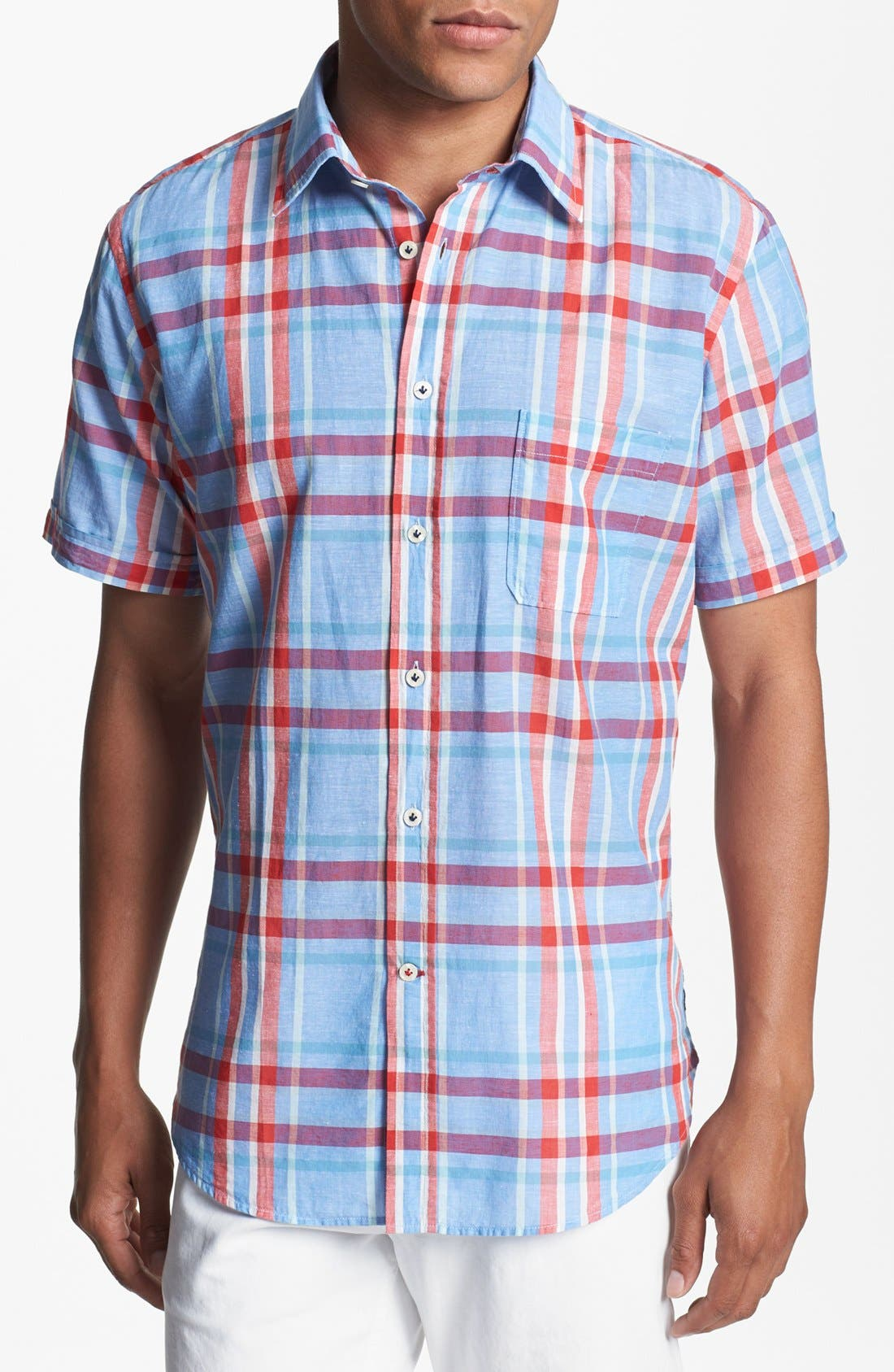 Main Image - Benson Plaid Short Sleeve Sport Shirt