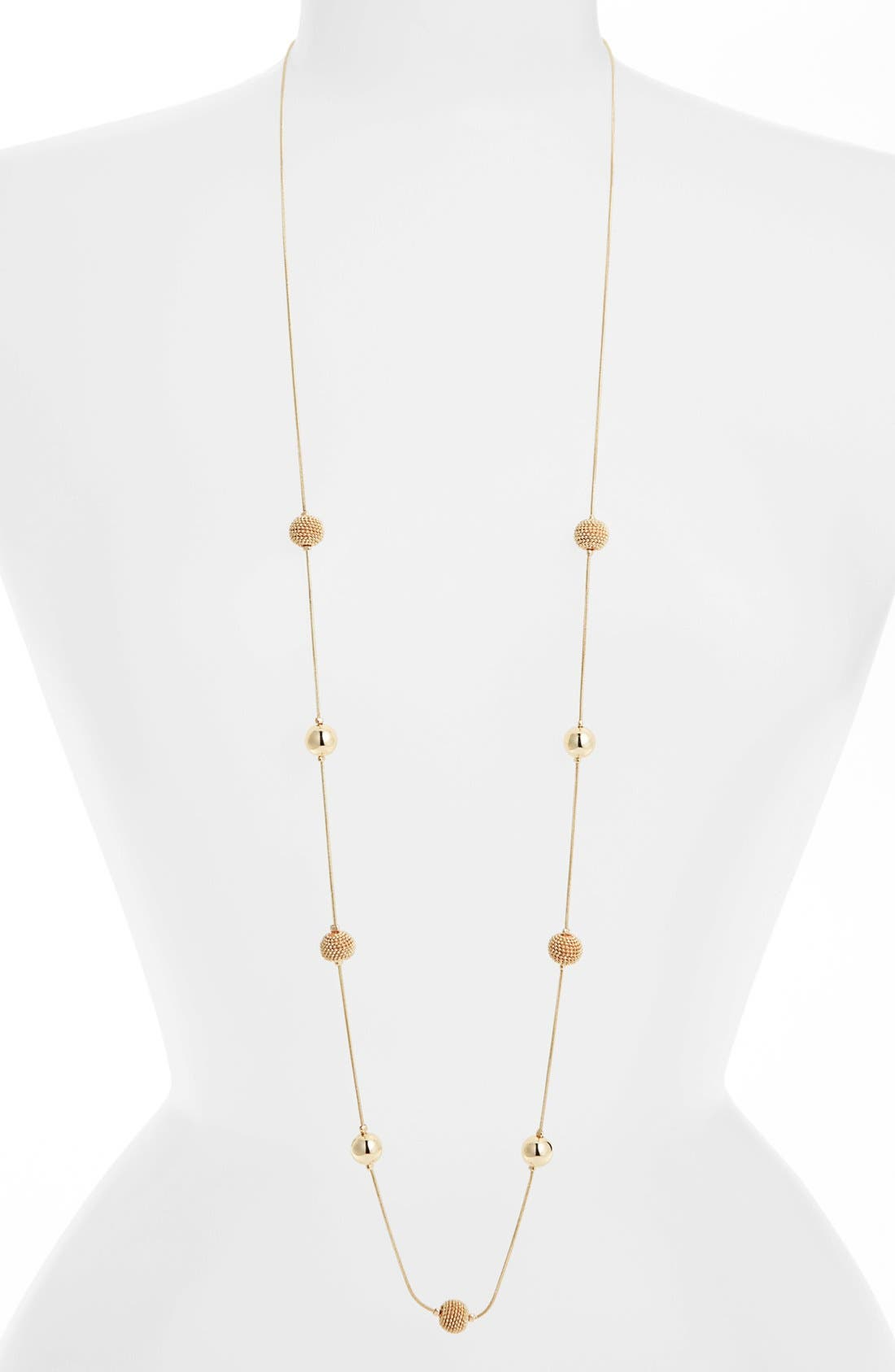 Alternate Image 2  - Anne Klein Extra Long Station Necklace