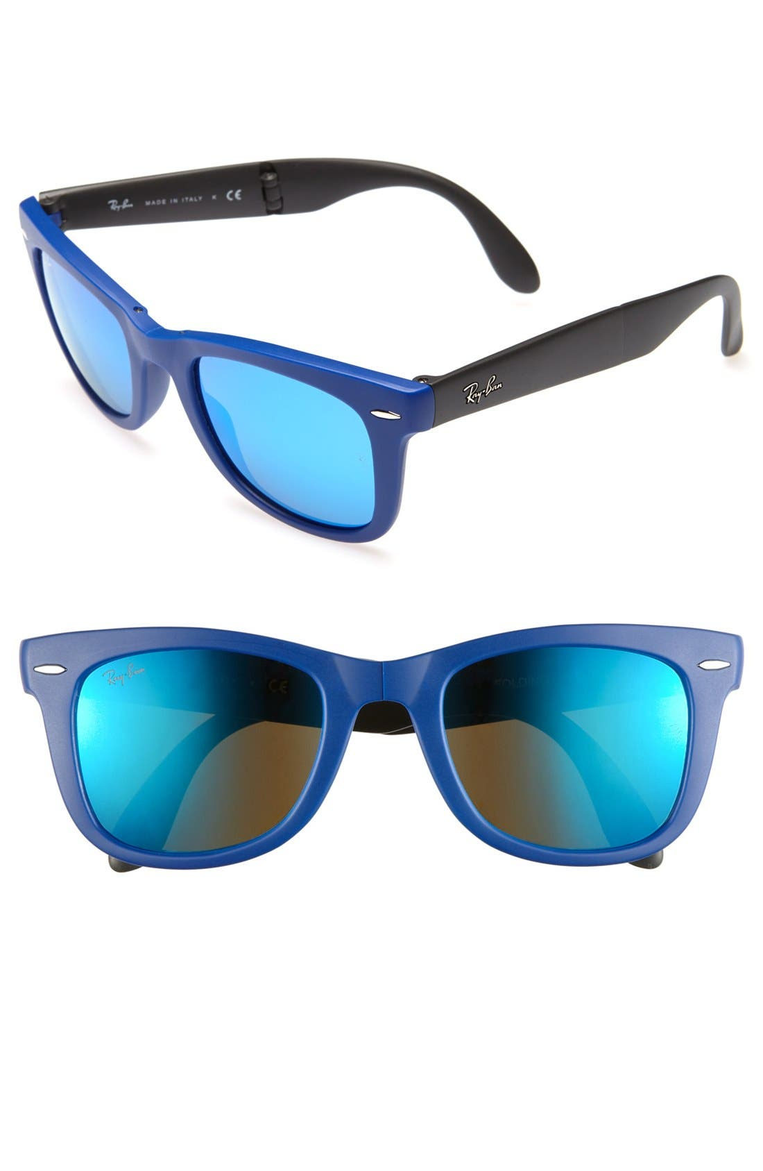 Alternate Image 1 Selected - Ray-Ban 'Folding Wayfarer' 50mm Sunglasses