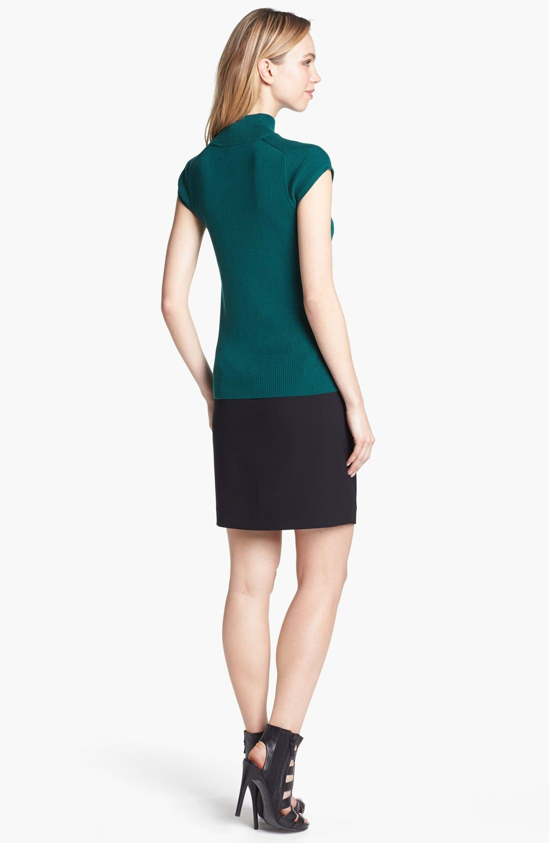 Alternate Image 2  - Vince Camuto Faux Leather Trim Envelope Skirt
