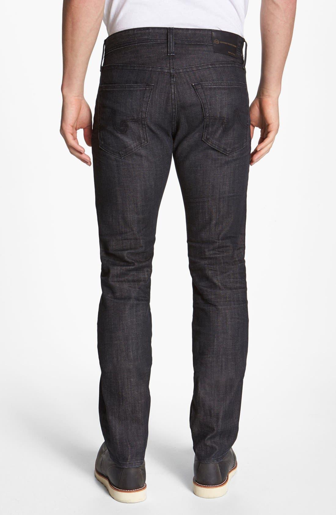 Alternate Image 2  - AG 'Matchbox' Slim Fit Jeans (1 Year Black)