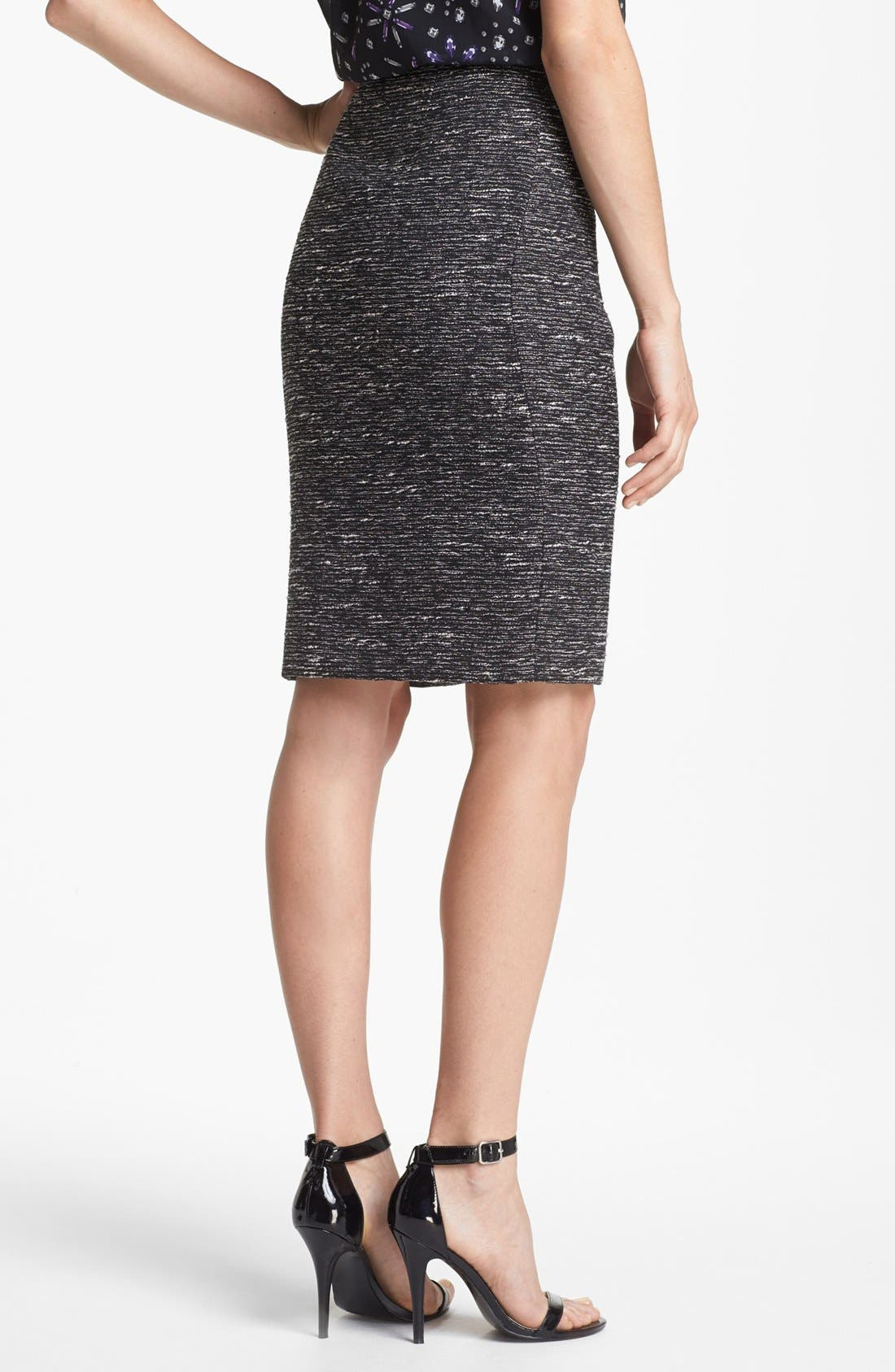 Alternate Image 2  - Vince Camuto Metallic Tweed Pencil Skirt