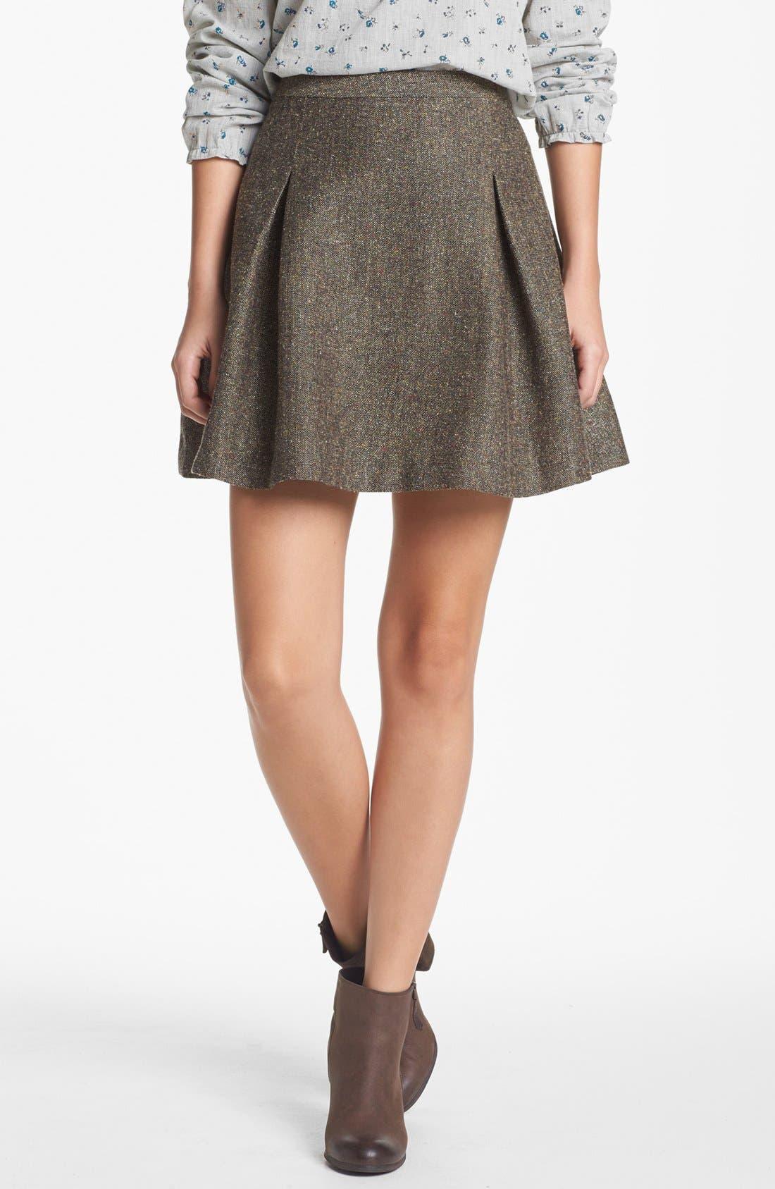 Main Image - Hinge® Metallic Tweed Skater Skirt