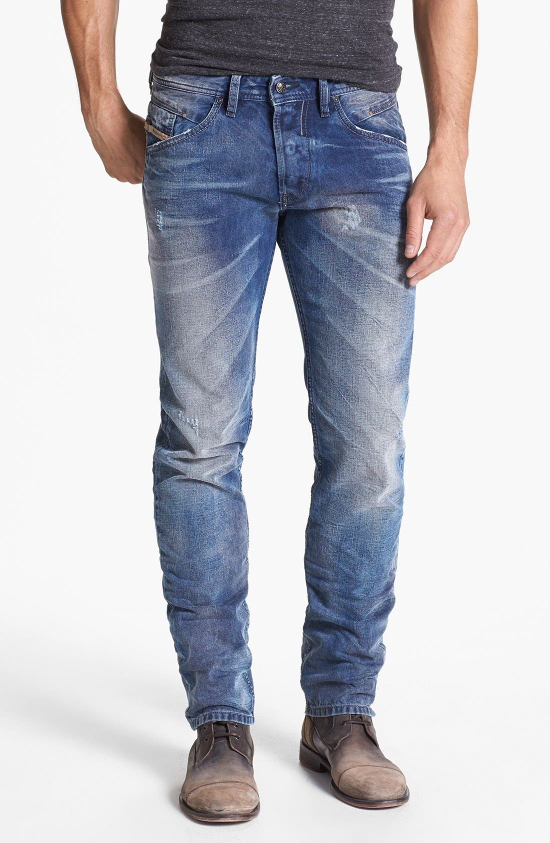Alternate Image 2  - DIESEL® 'Belther' Slim Fit Jeans (0816J)