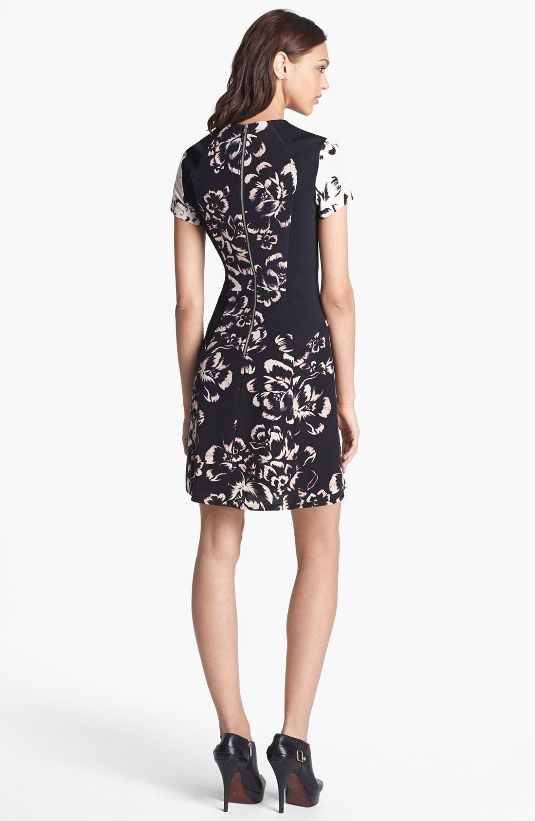Alternate Image 2  - Rebecca Taylor 'Artisanal Blocked' Print Silk A-Line Dress