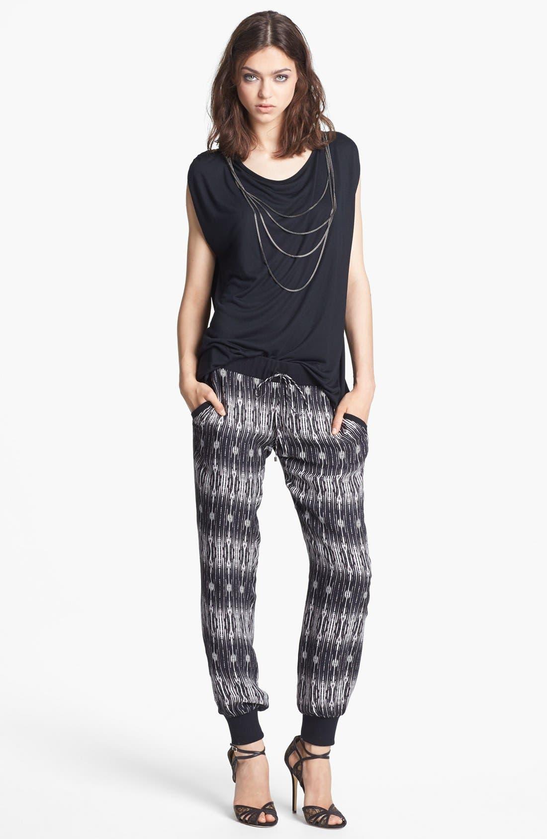 Alternate Image 3  - Haute Hippie Print Silk Sweatpants