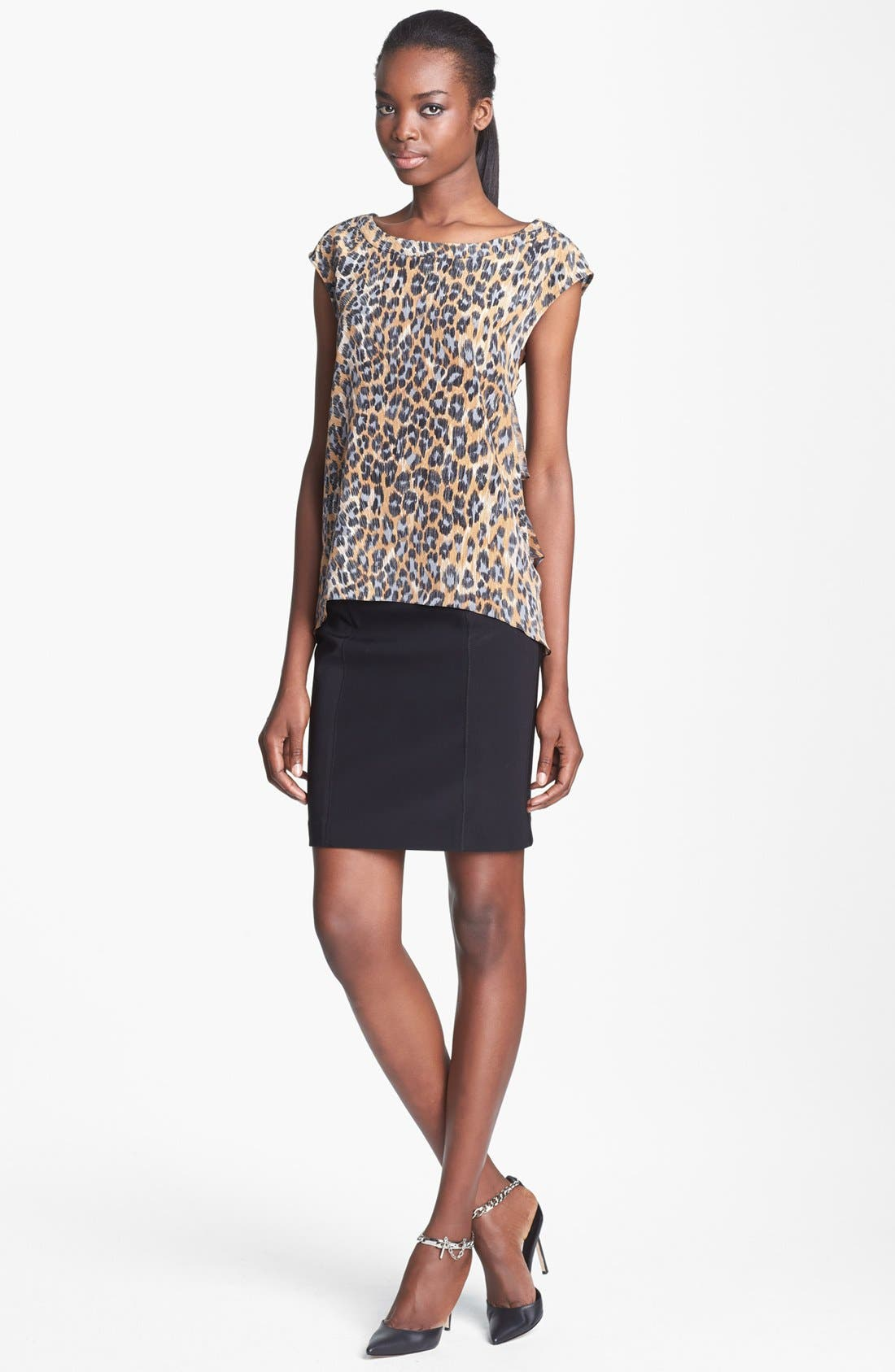 Alternate Image 2  - Tracy Reese Print Silk Blouse