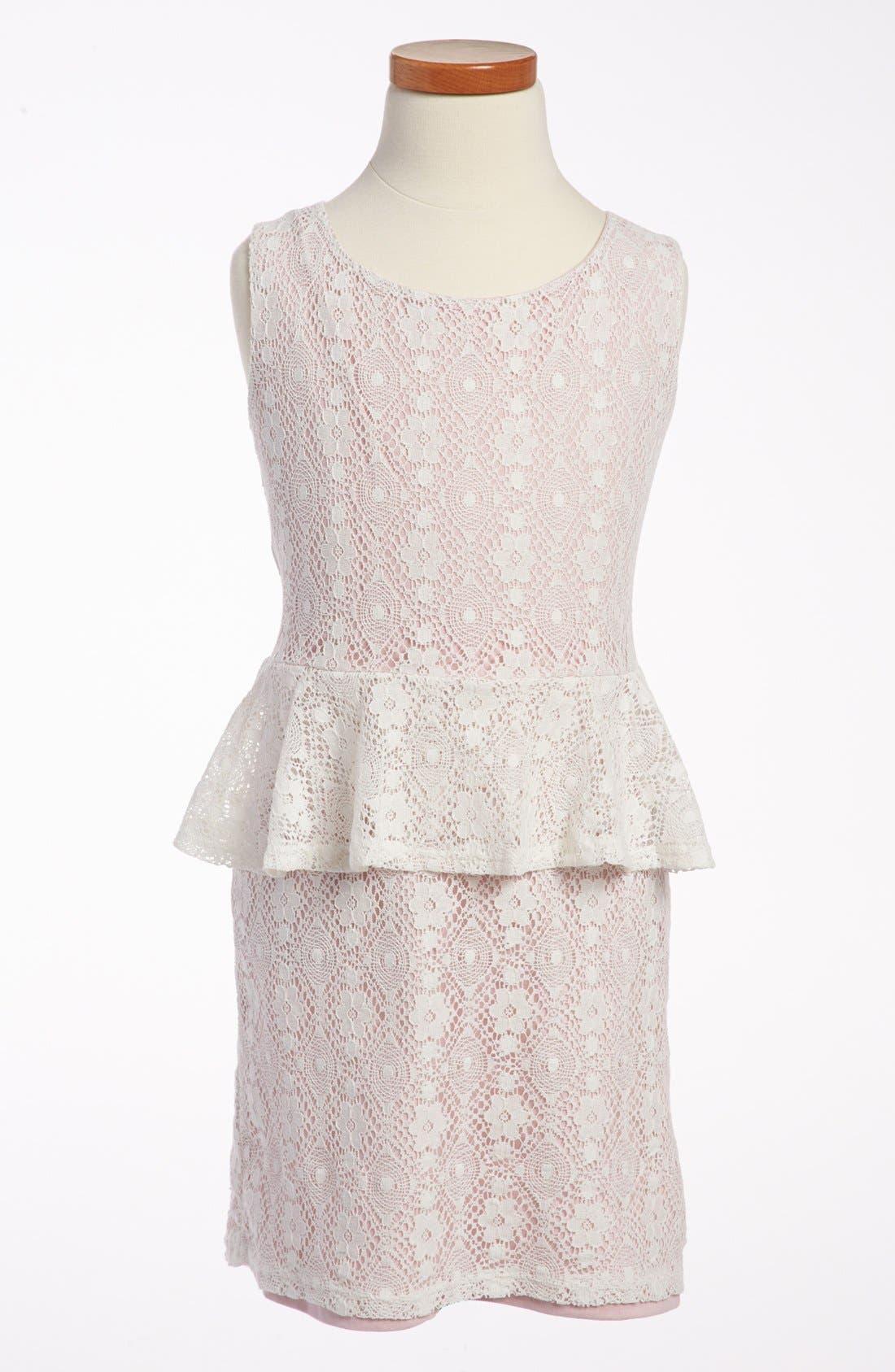 Alternate Image 1 Selected - Mia Chica Peplum Dress (Big Girls)