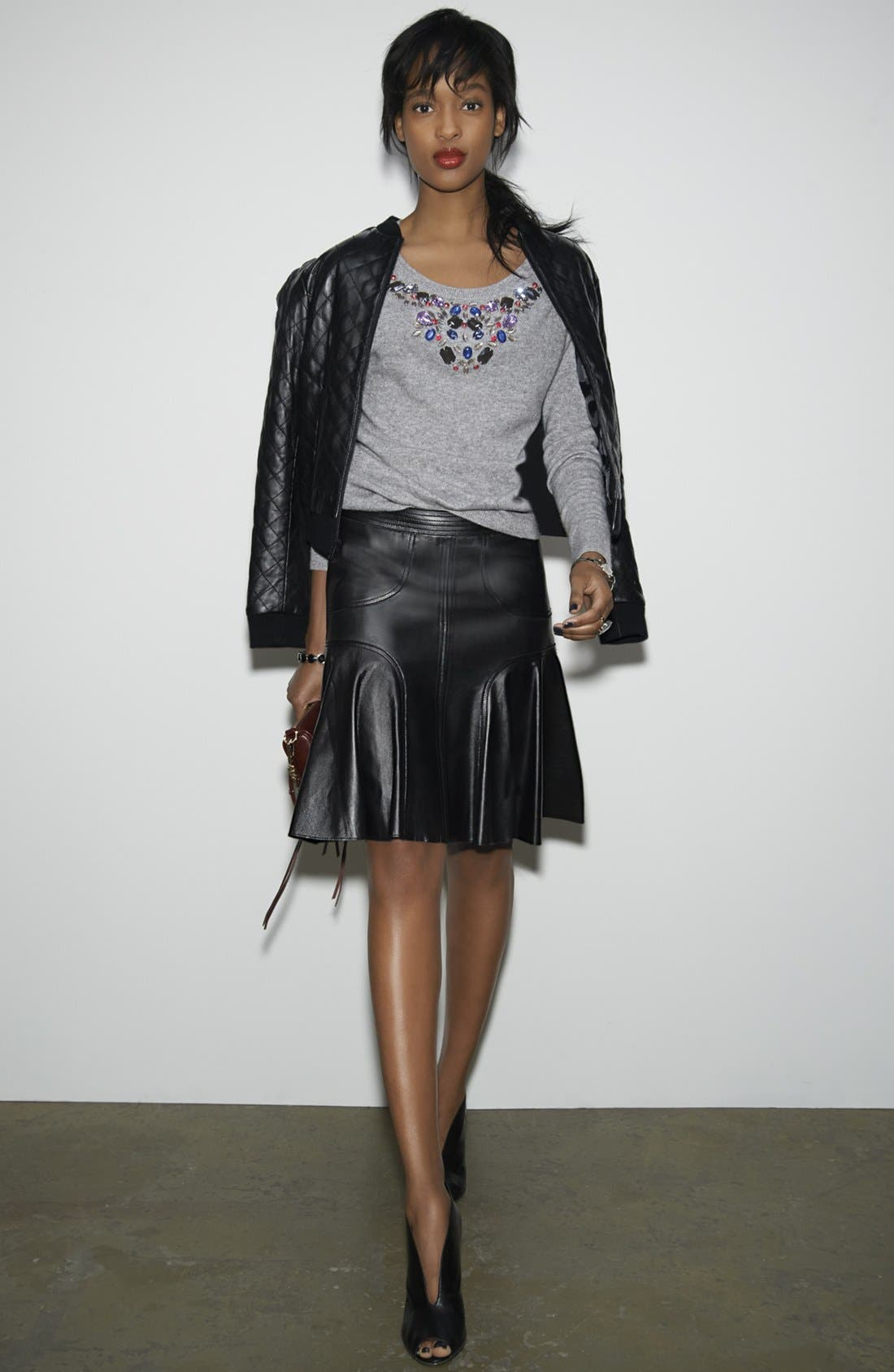 Alternate Image 6  - Halogen® Jewel Neck Cashmere Sweater