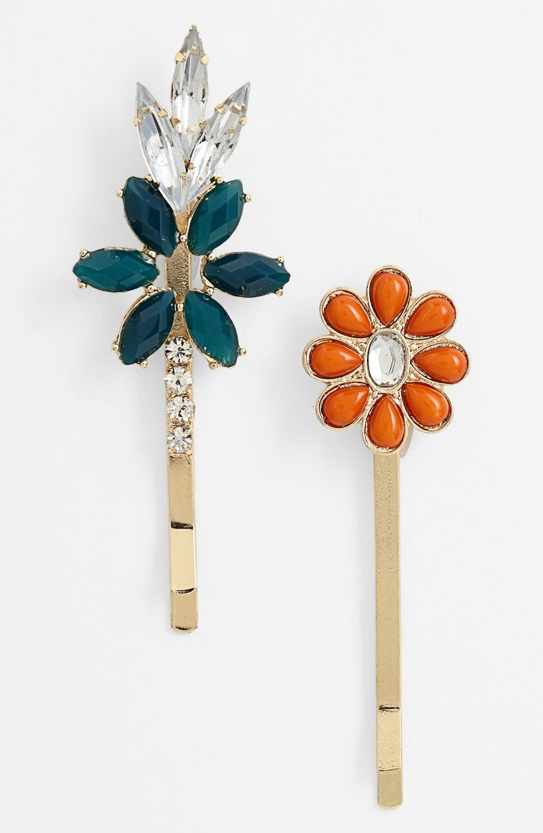 Main Image - Berry 'Flowers' Bobby Pins (Set of 2)