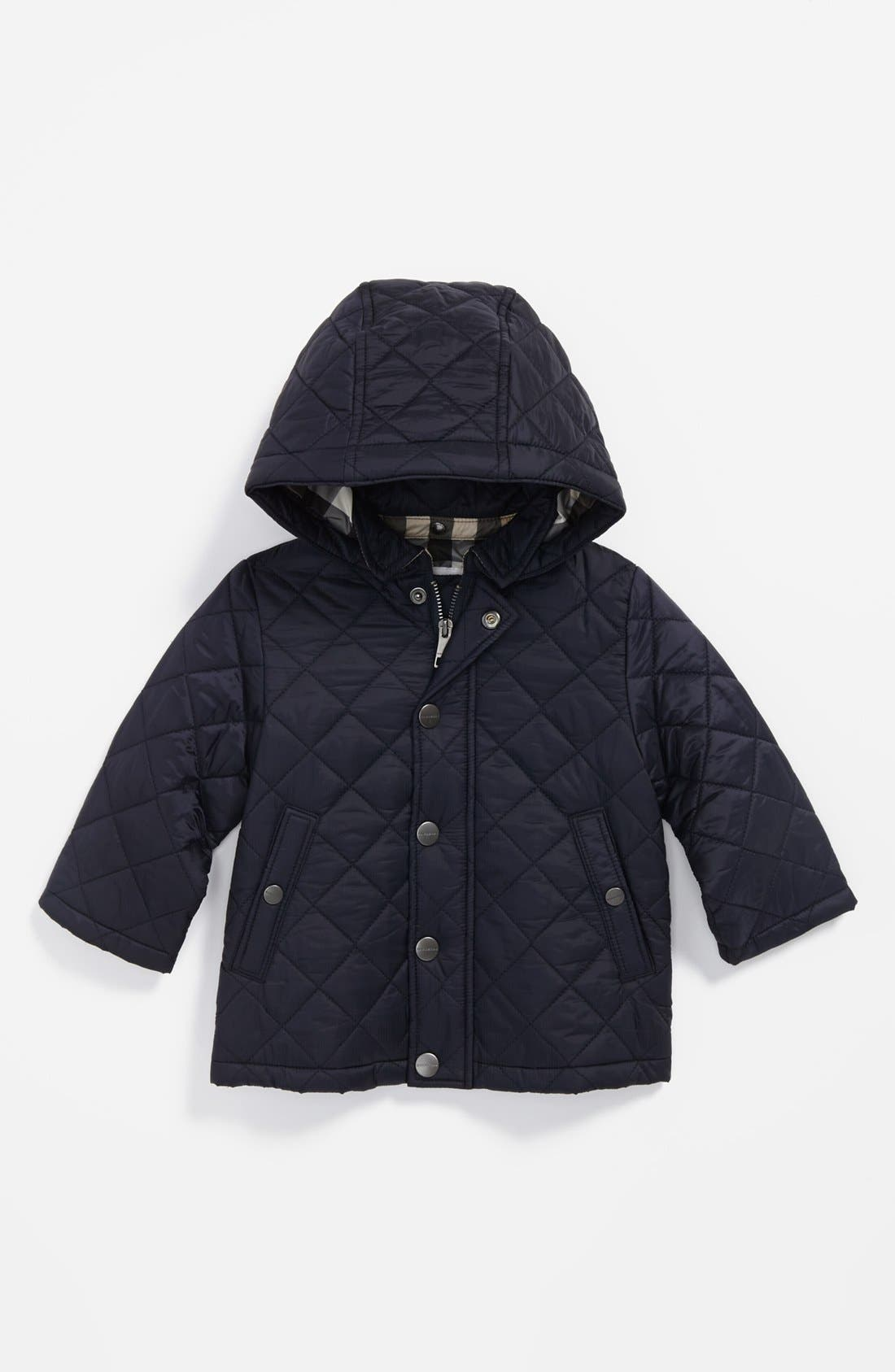 Main Image - Burberry 'Jerry' Quilted Jacket (Baby Boys)