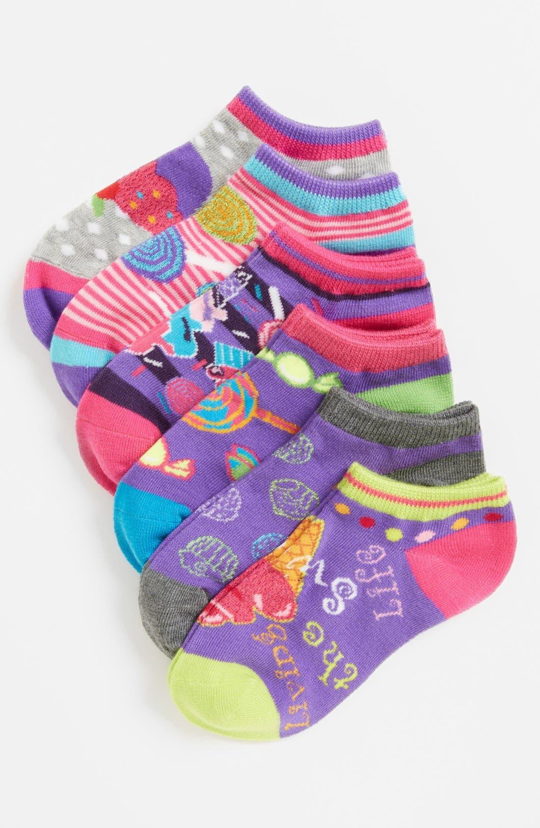 Main Image - Nordstrom 'Food Friends' Low Cut Socks (6-Pack) (Toddler Girls, Little Girls & Big Girls)