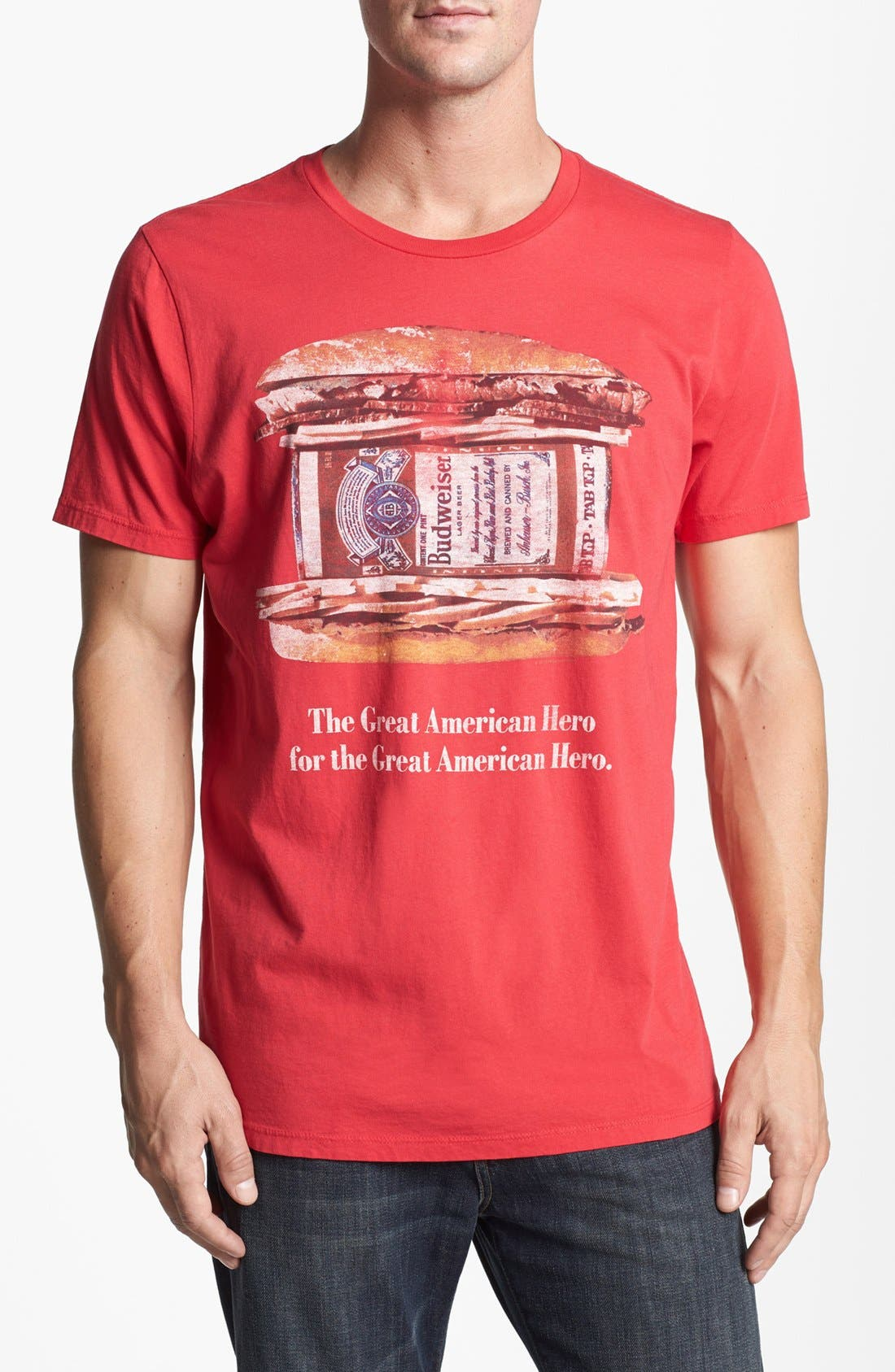 Alternate Image 1 Selected - Junk Food 'Budweiser Hero' T-Shirt