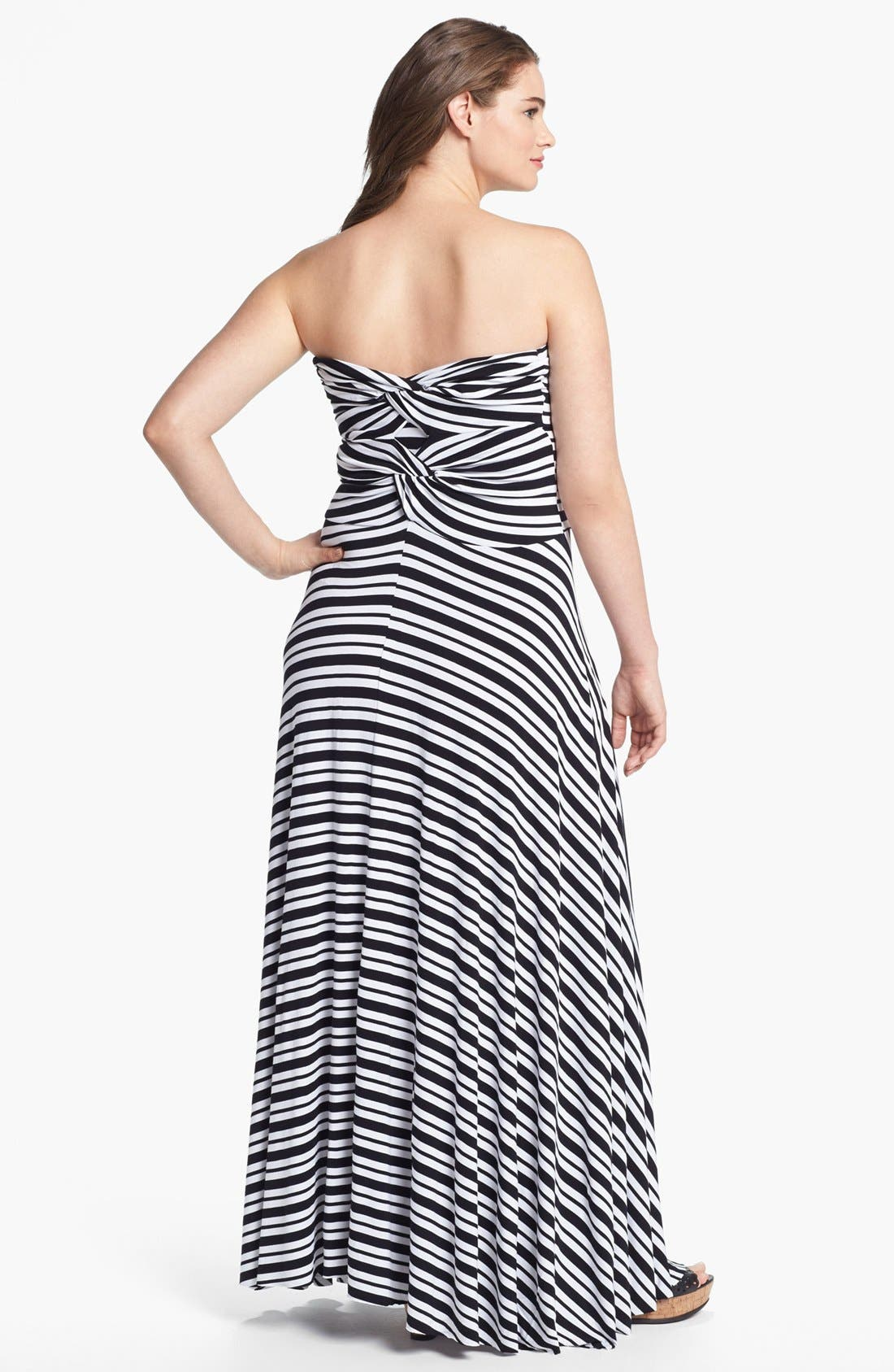 Alternate Image 2  - Felicity & Coco Strapless Jersey Maxi Dress (Plus Size) (Nordstrom Exclusive)