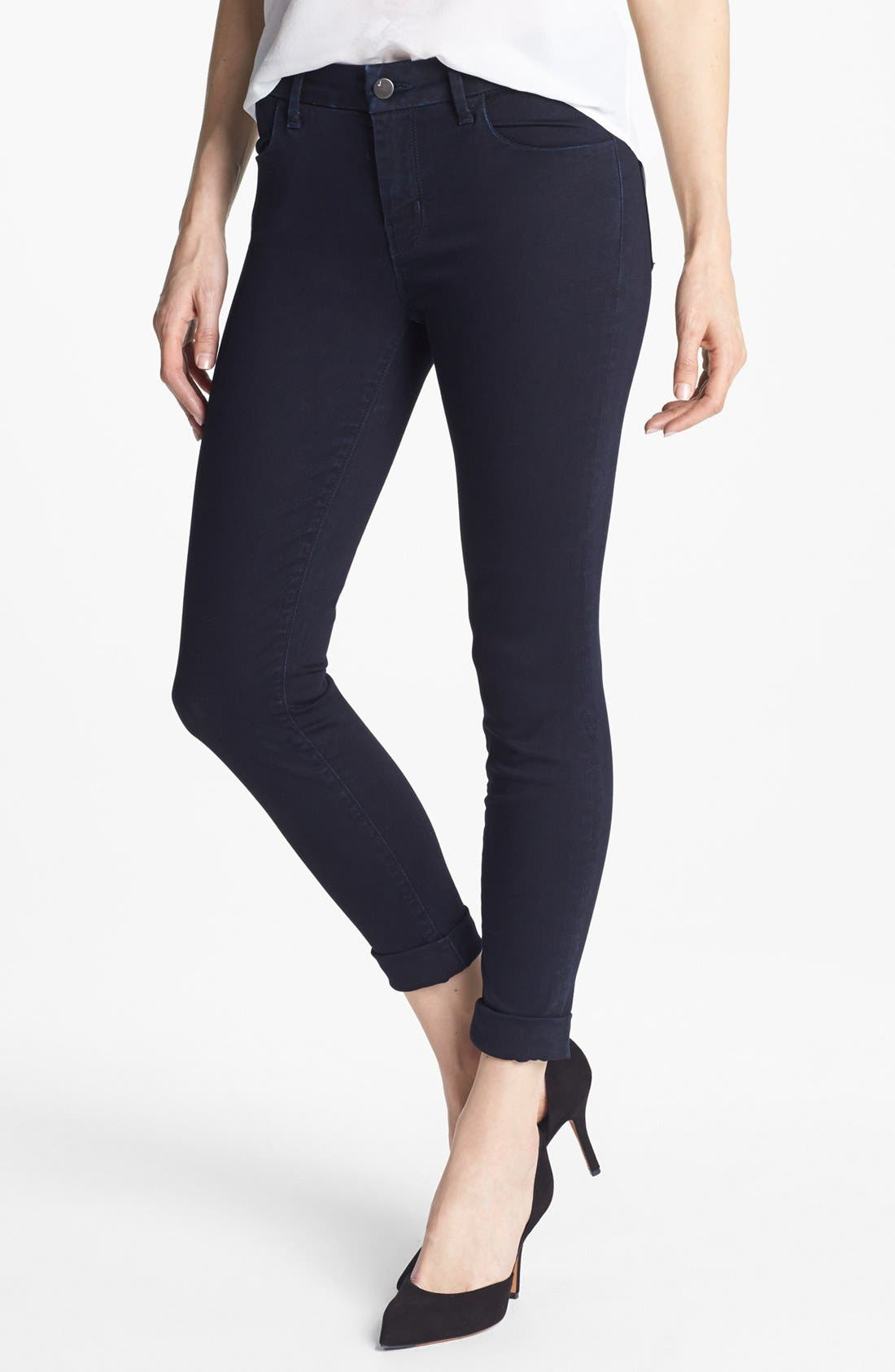 Alternate Image 1 Selected - J Brand '8020 Anja' Mid Rise Crop Skinny Jeans (Vision)
