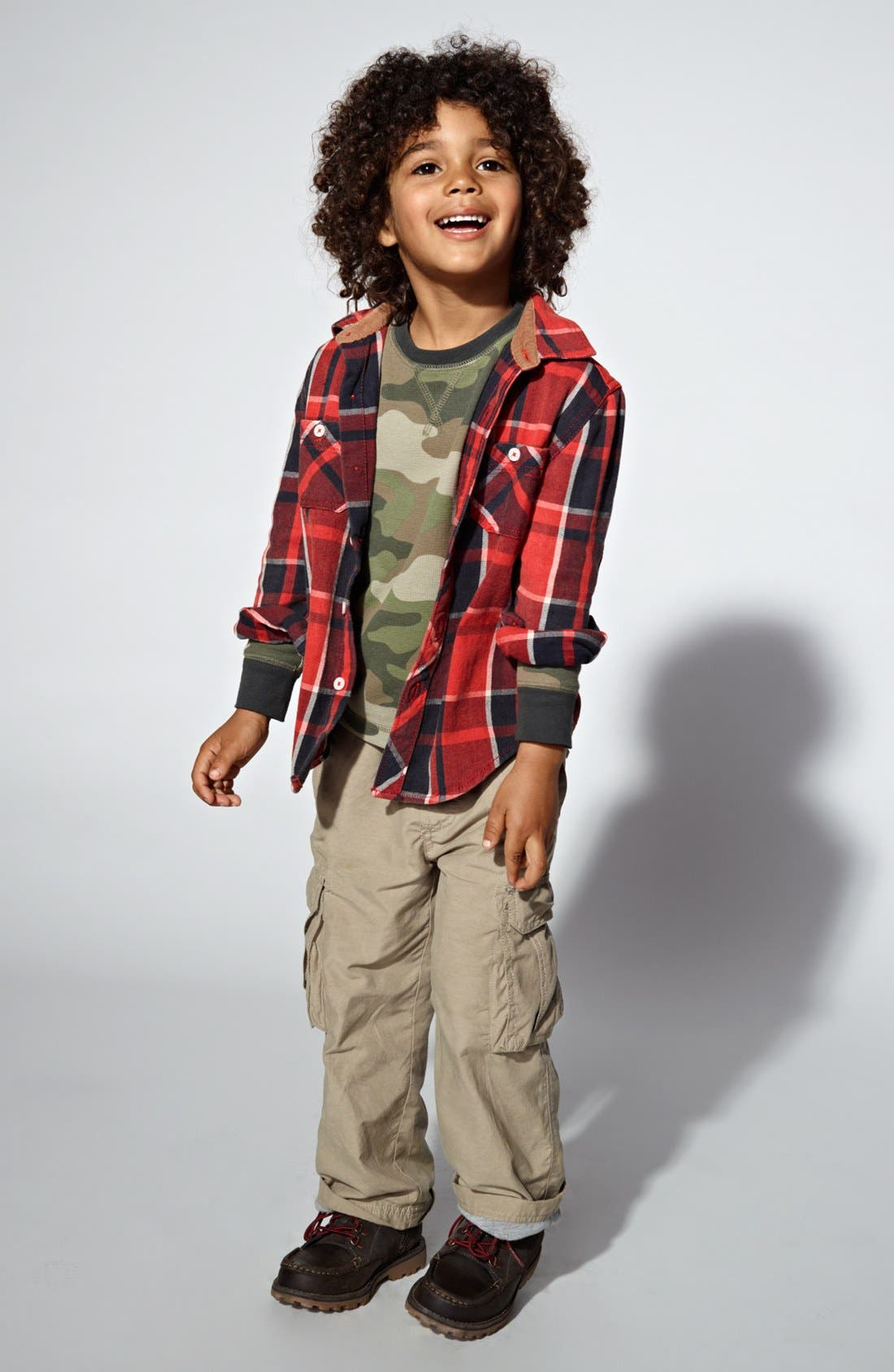 Alternate Image 1 Selected - Tucker + Tate Shirt, T-Shirt & Cargo Pants (Toddler Boys)