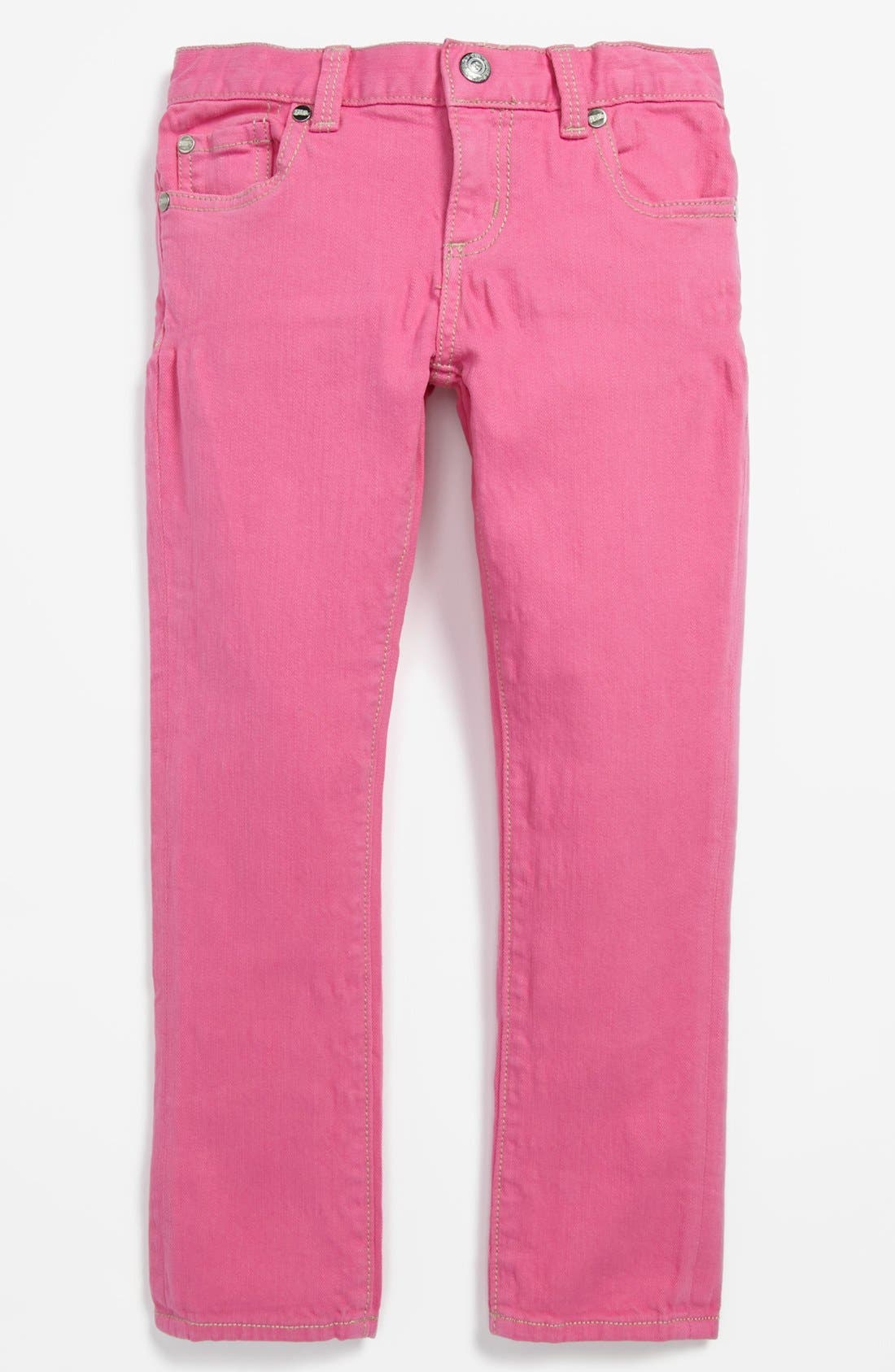 Alternate Image 2  - Peek 'Dylan' Jeans (Toddler Girls, Little Girls & Big Girls)