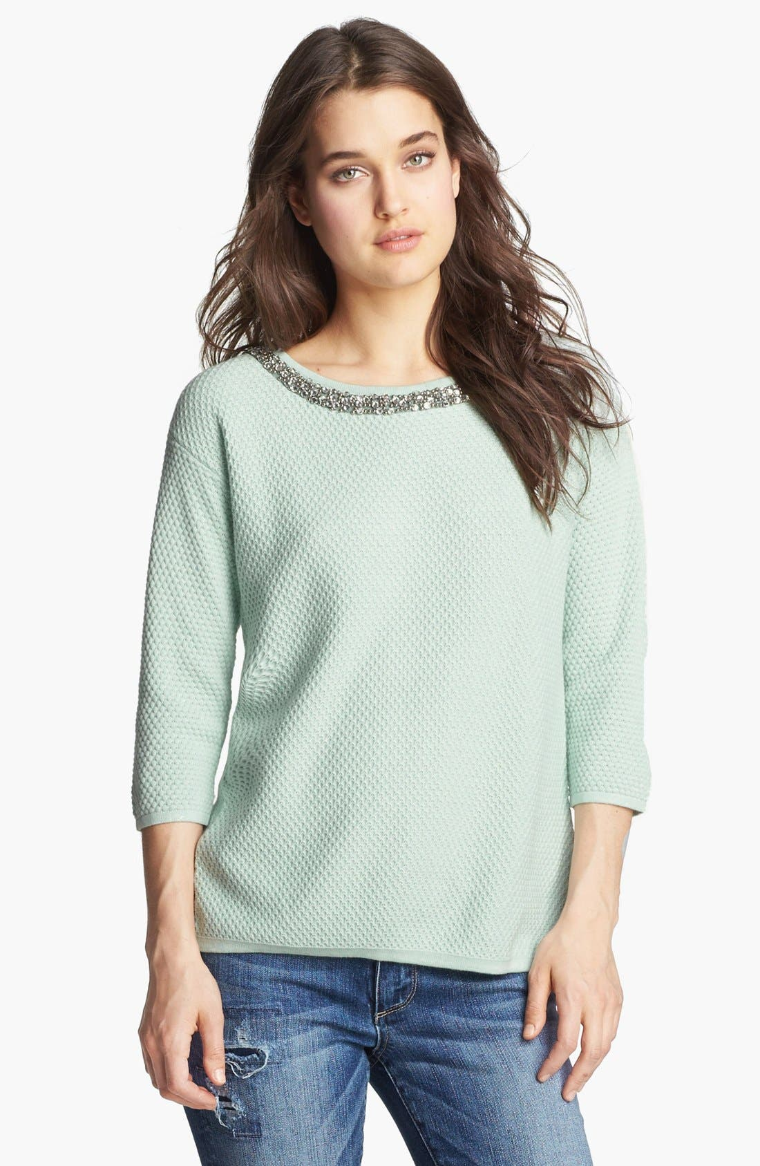 Main Image - Hinge® Jewel Neck Sweater