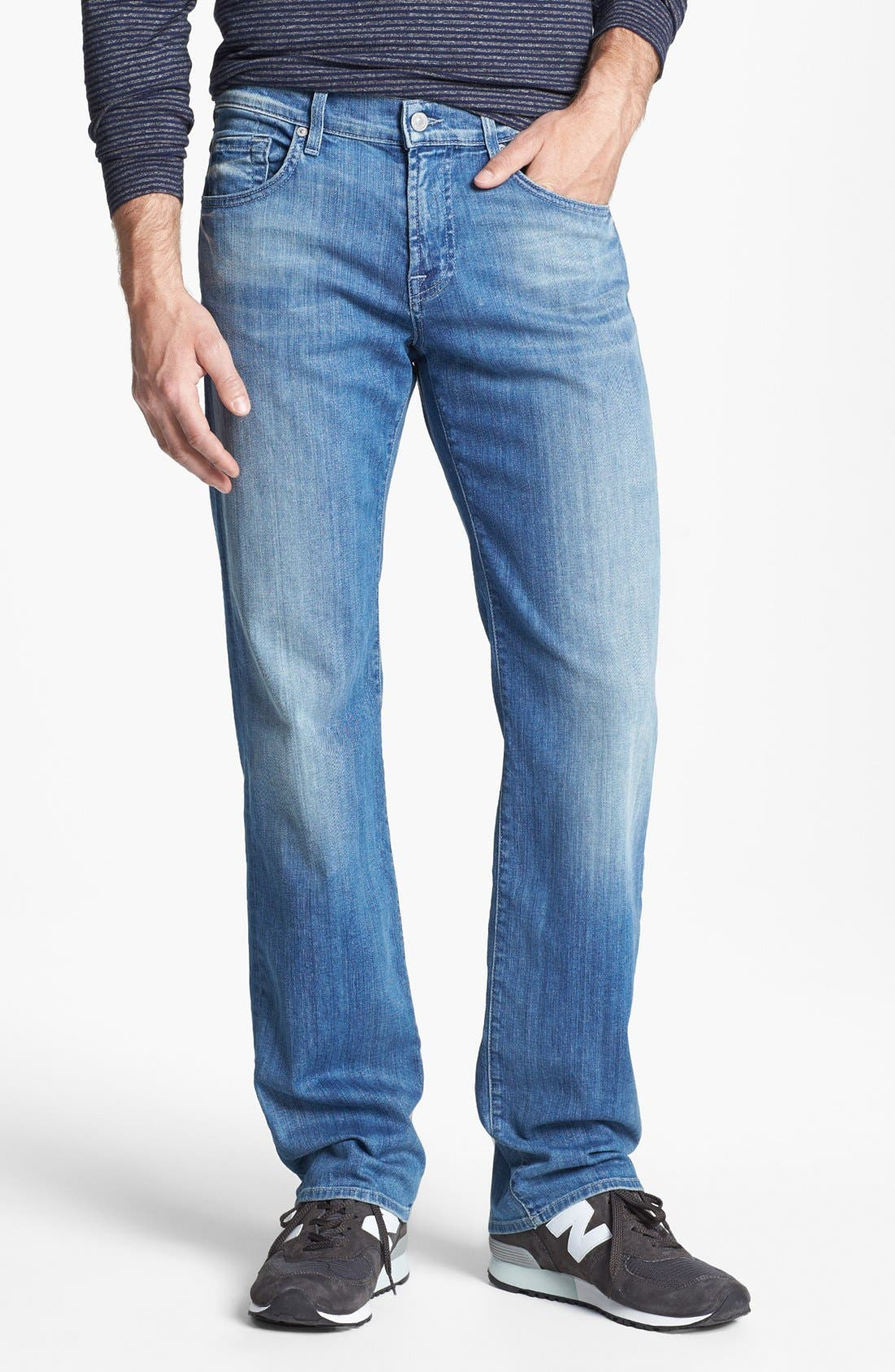Alternate Image 1 Selected - 7 For All Mankind® 'Austyn' Relaxed Fit Jeans (Washed Out)