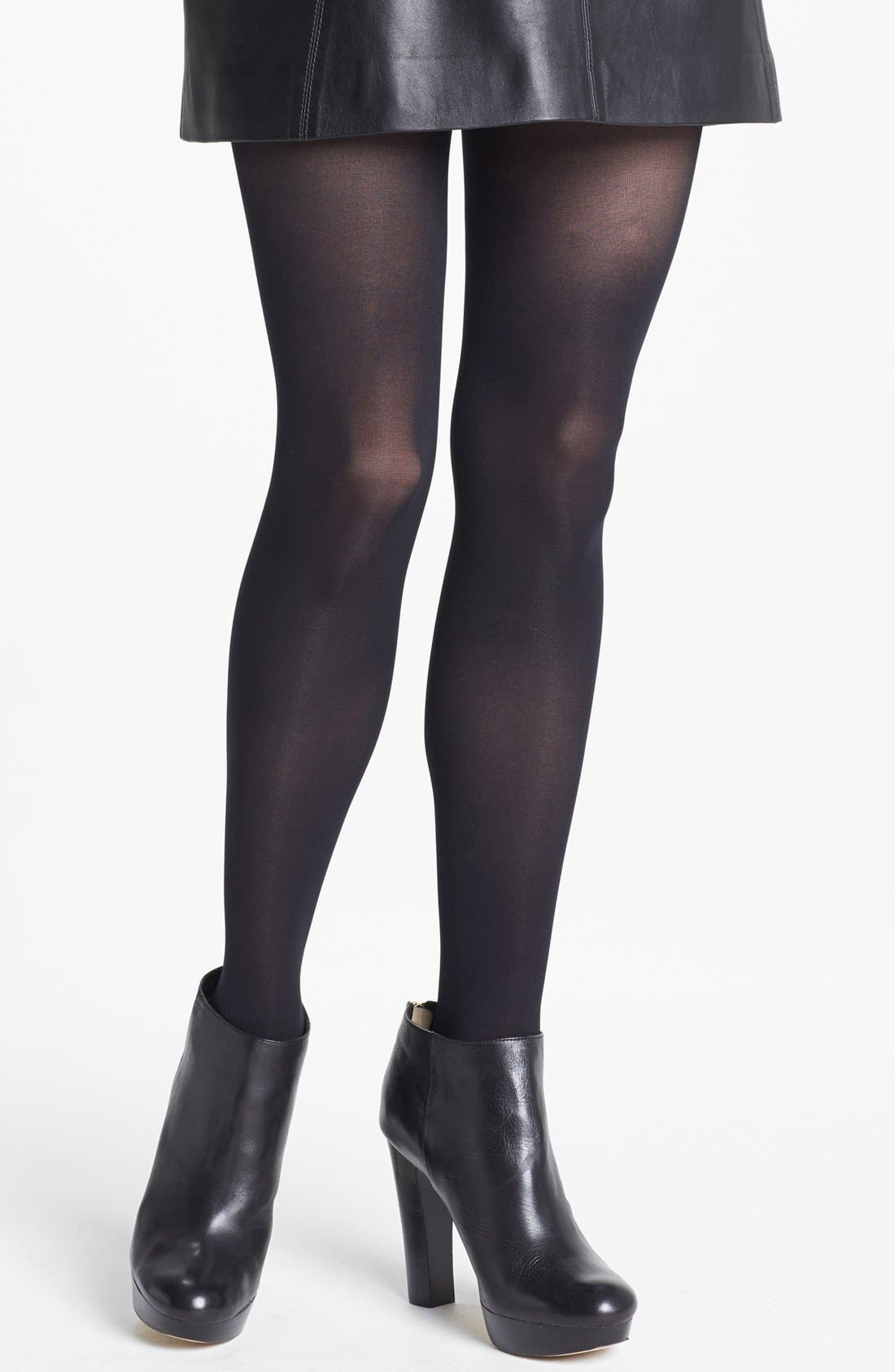 Alternate Image 2  - DKNY Stud Embellished Tights